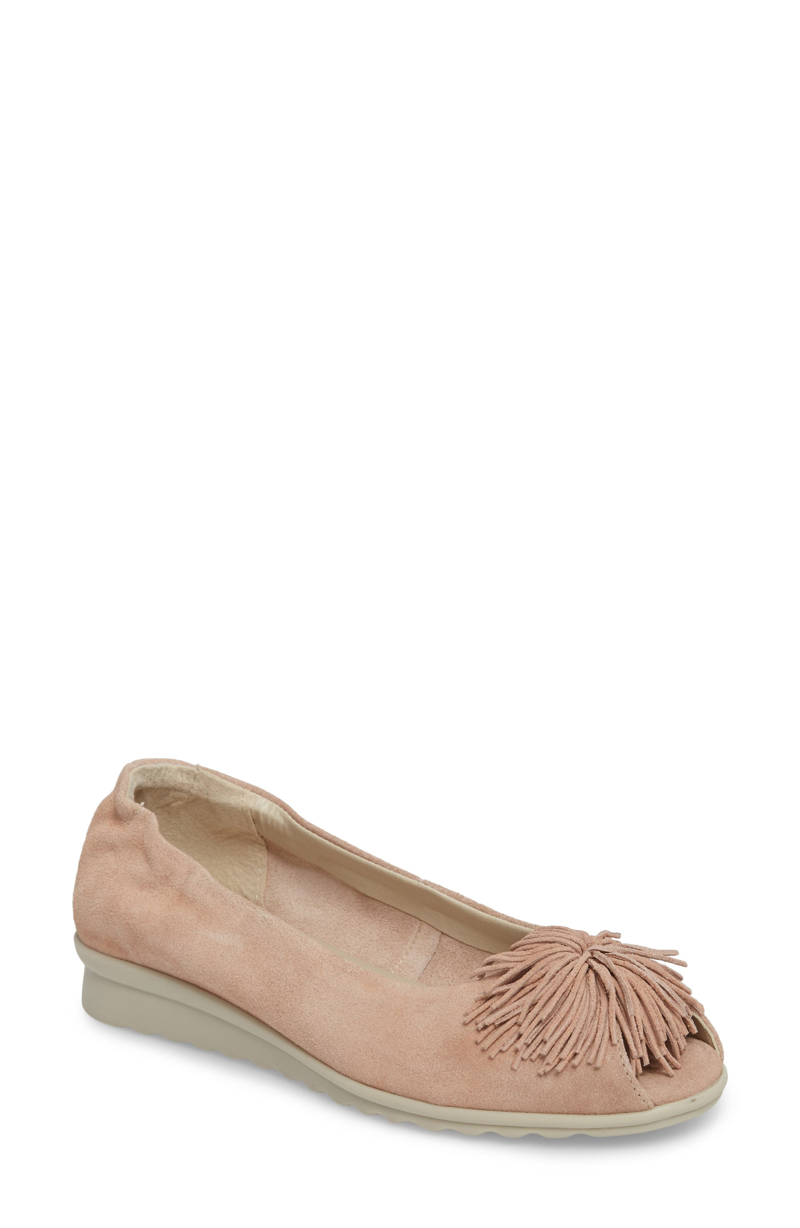 The Flexx Boco Loco Peeptoe Flat, Metallic