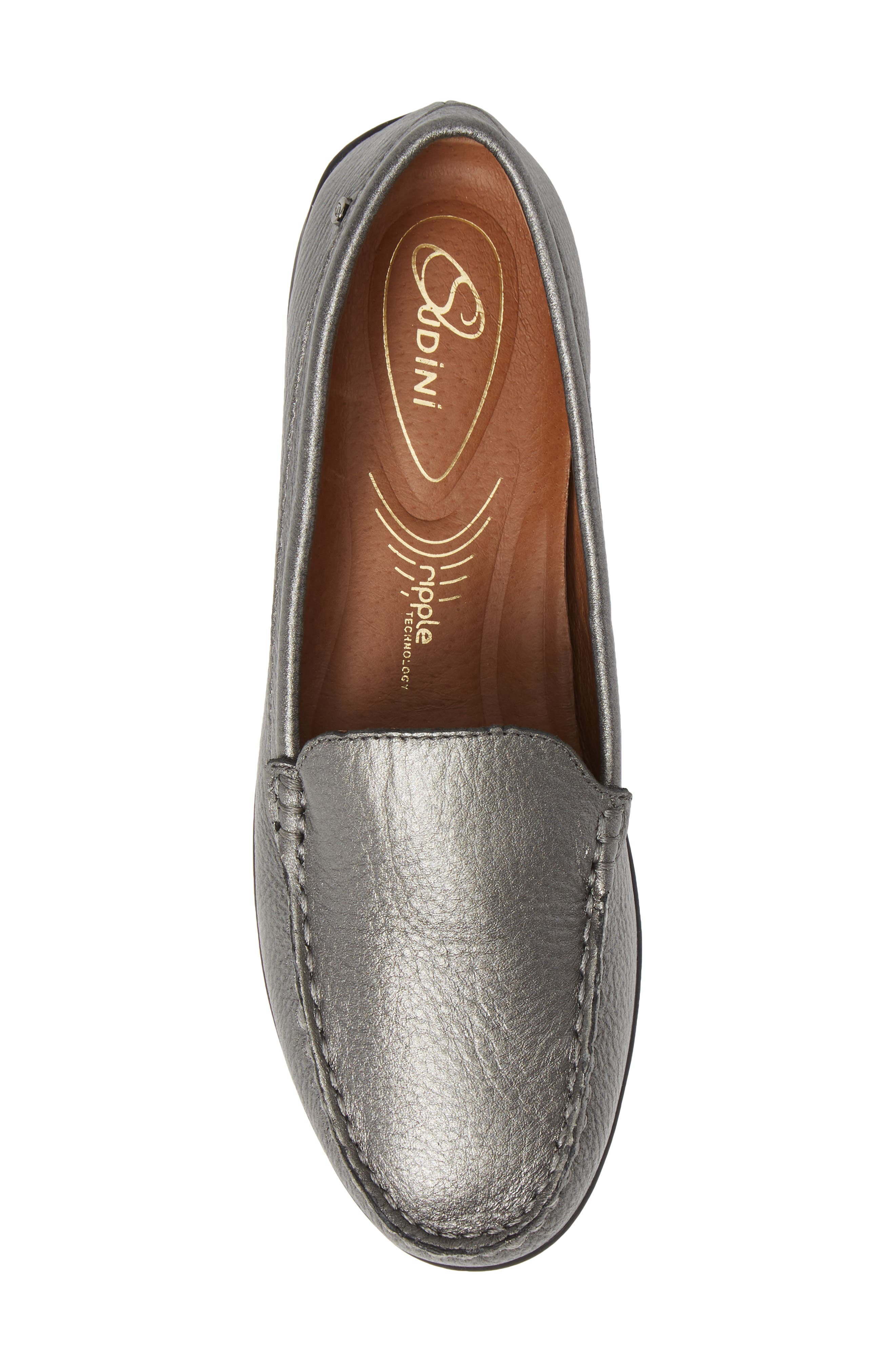 SUDINI, Laila Loafer, Alternate thumbnail 5, color, PEWTER FABRIC