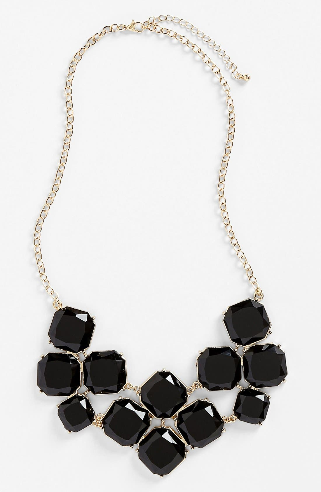 STEPHAN & CO., Stone Statement Necklace, Main thumbnail 1, color, 003