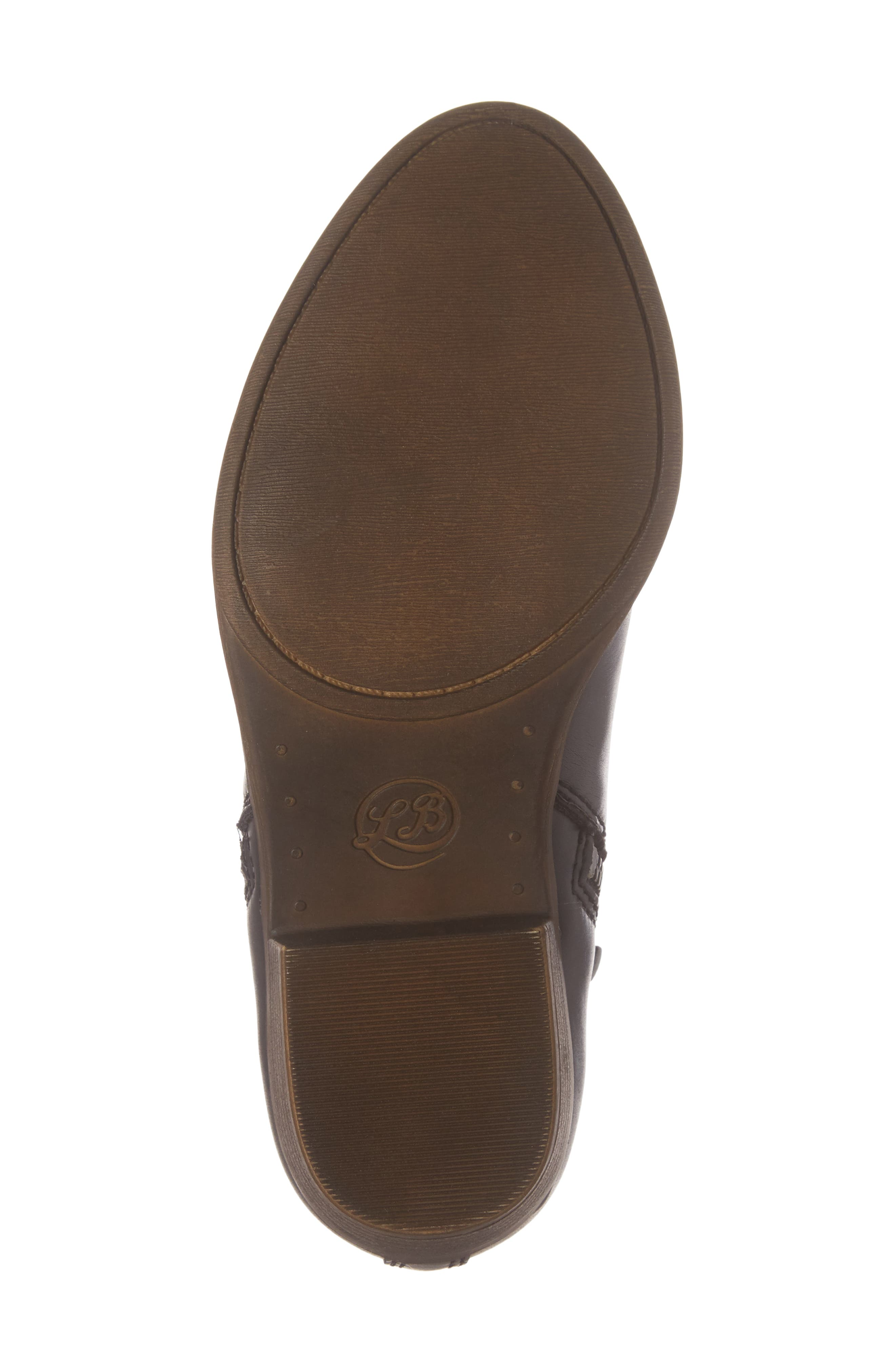 LUCKY BRAND, Basel Double-Zip Bootie, Alternate thumbnail 6, color, 001