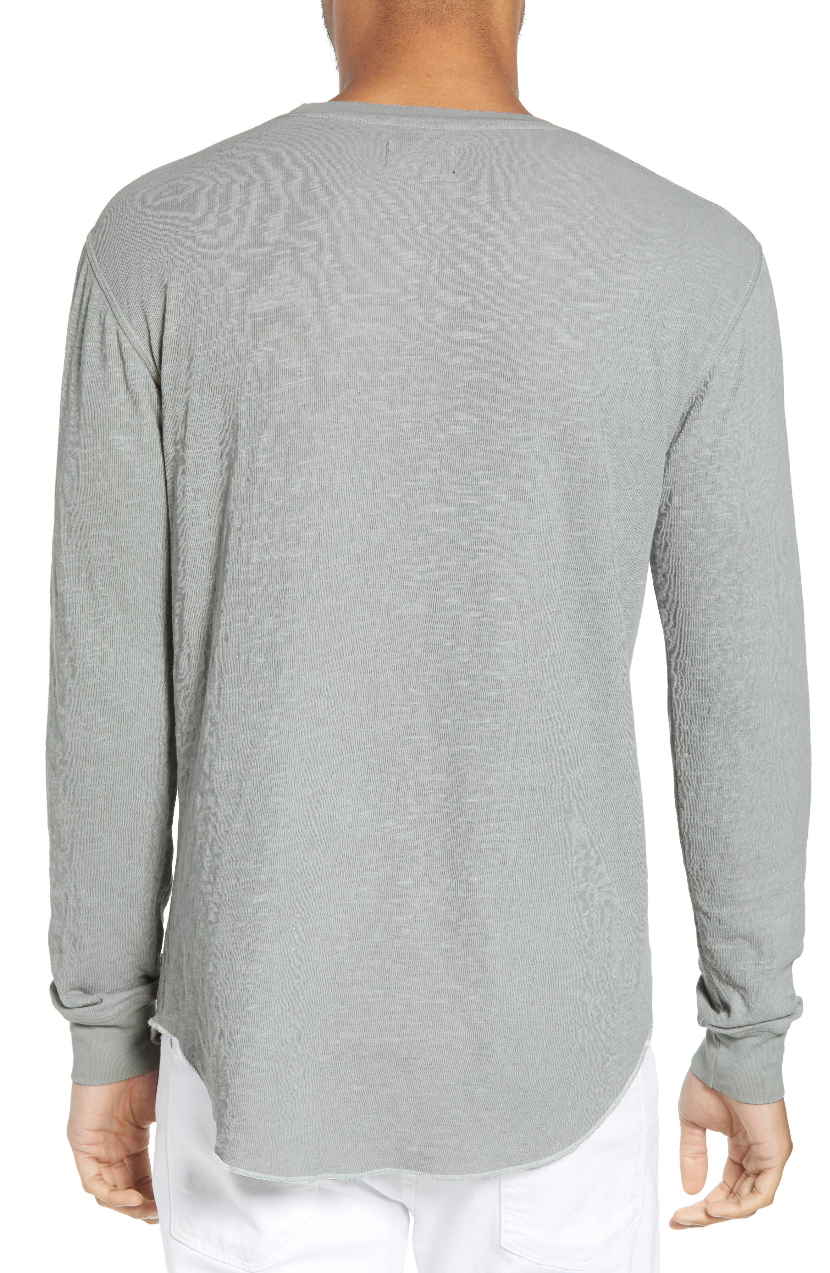 GOODLIFE, Double Layer Slim Crewneck T-Shirt, Alternate thumbnail 2, color, QUARRY