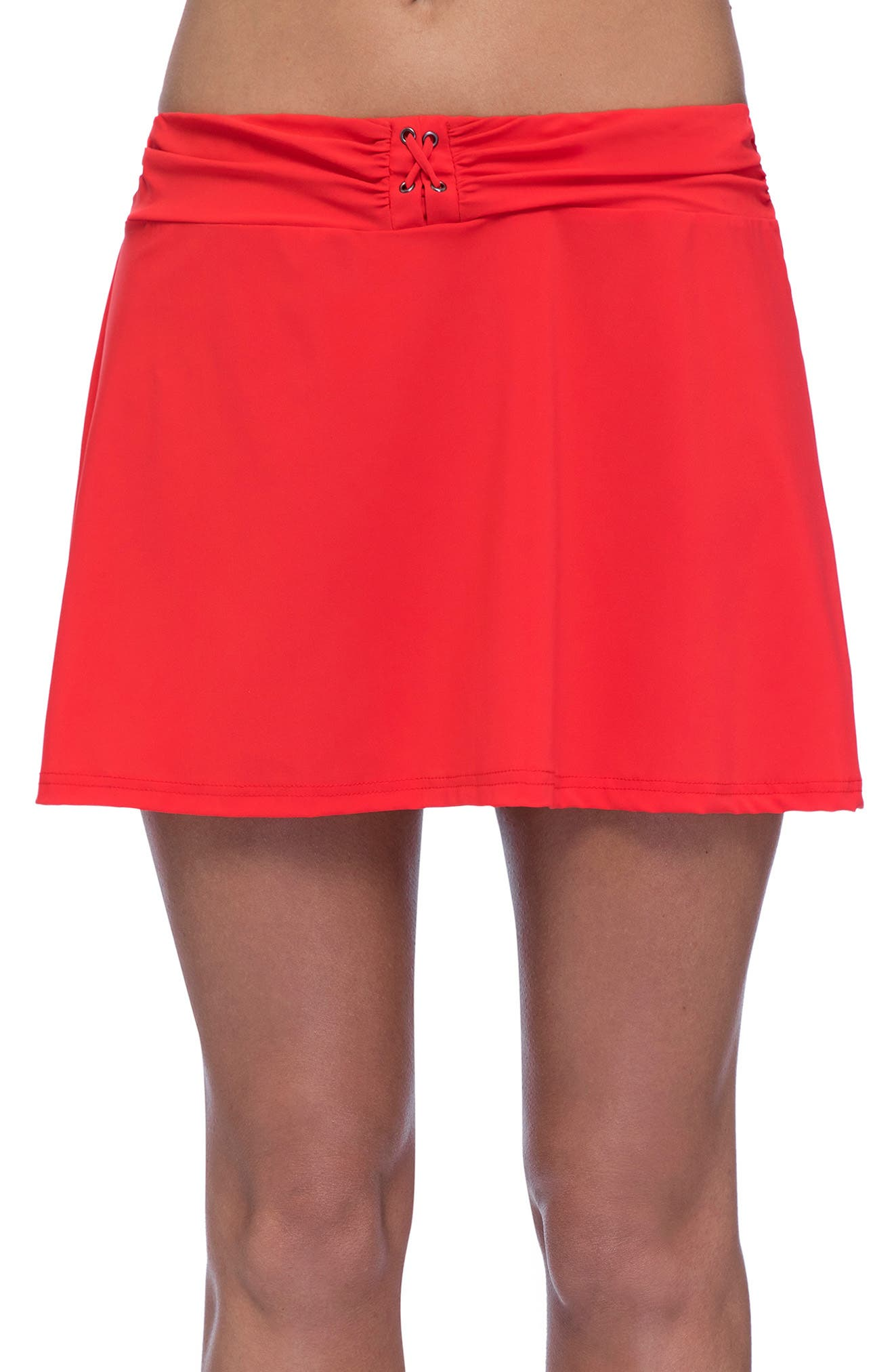 PROFILE BY GOTTEX Cover-Up Skirt, Main, color, TANGERINE