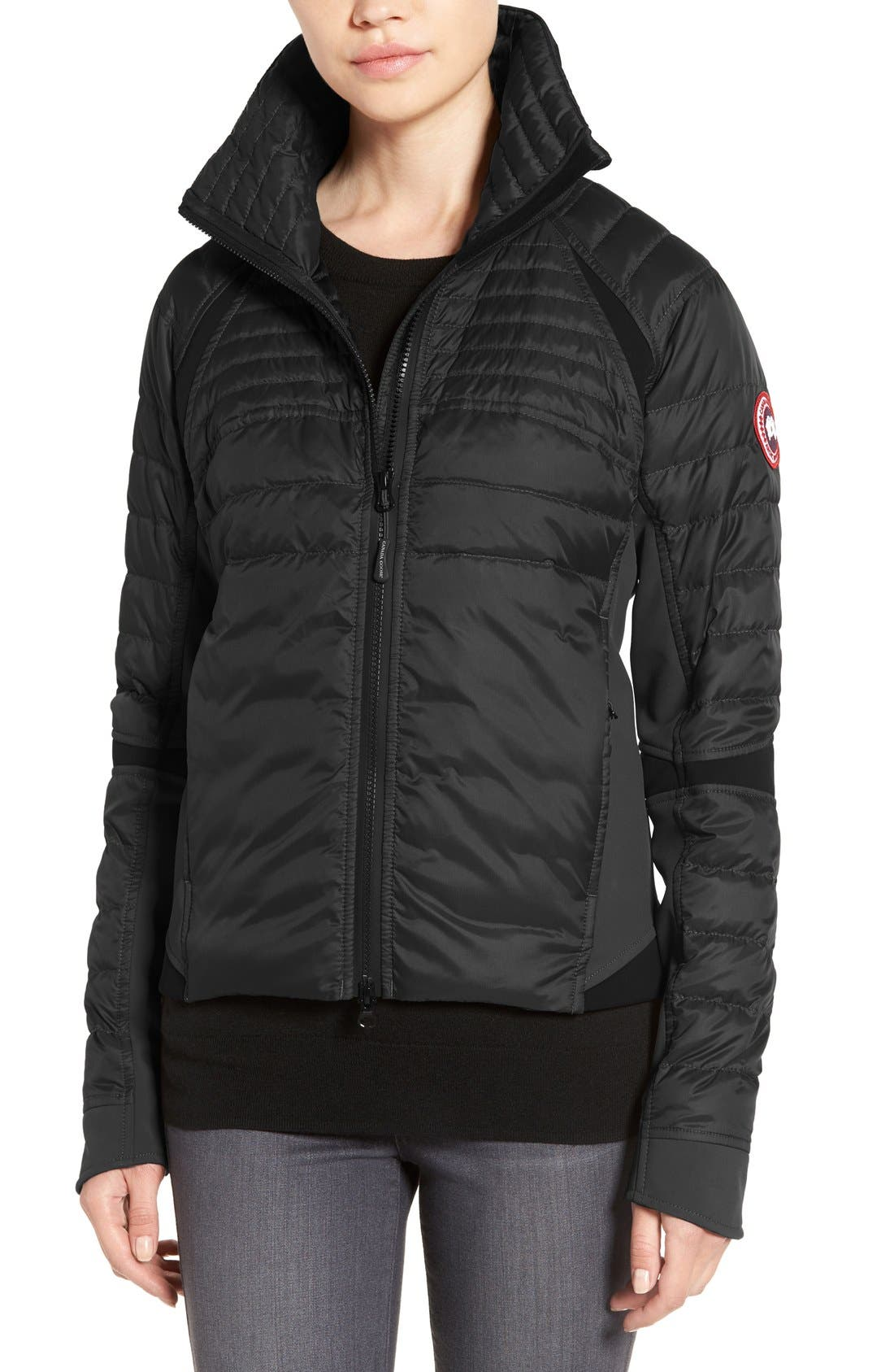 CANADA GOOSE Hybridge Perren Jacket, Main, color, BLACK