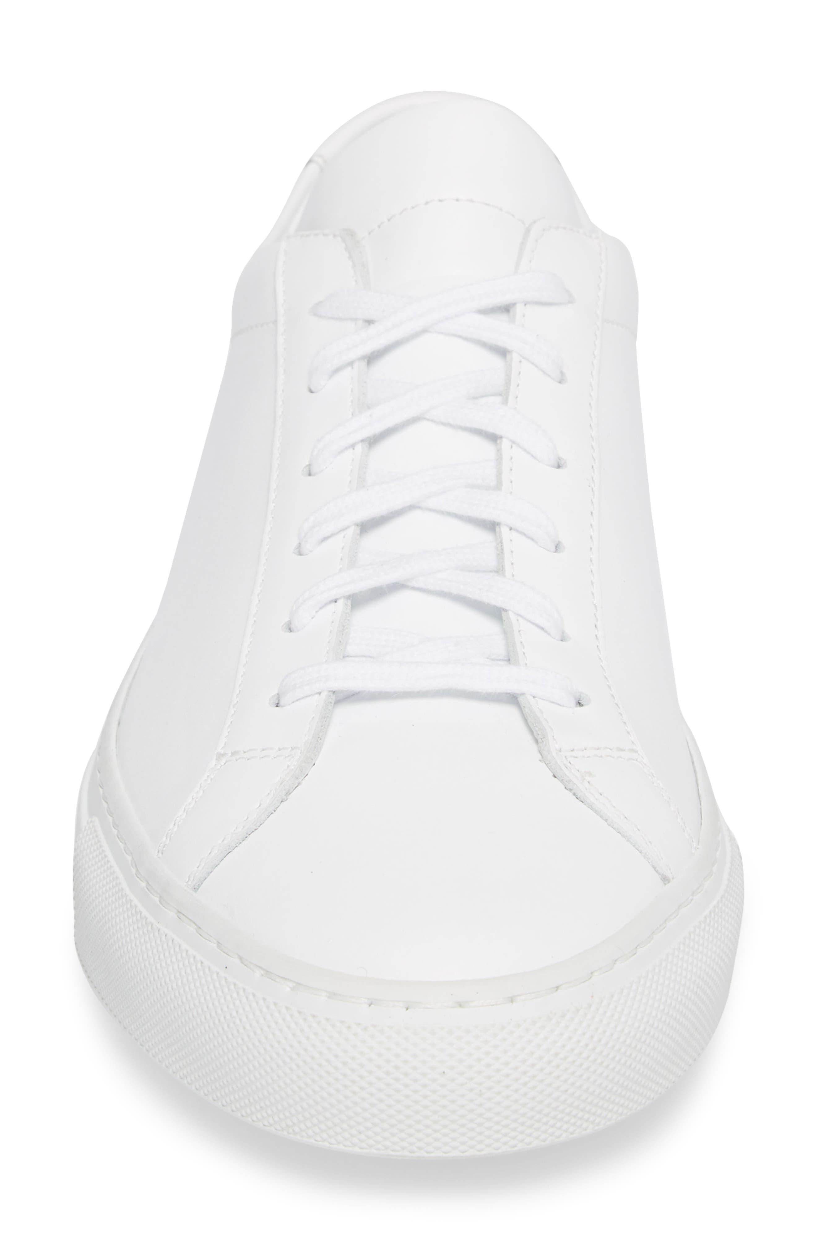 COMMON PROJECTS, Original Achilles Sneaker, Alternate thumbnail 4, color, WHITE