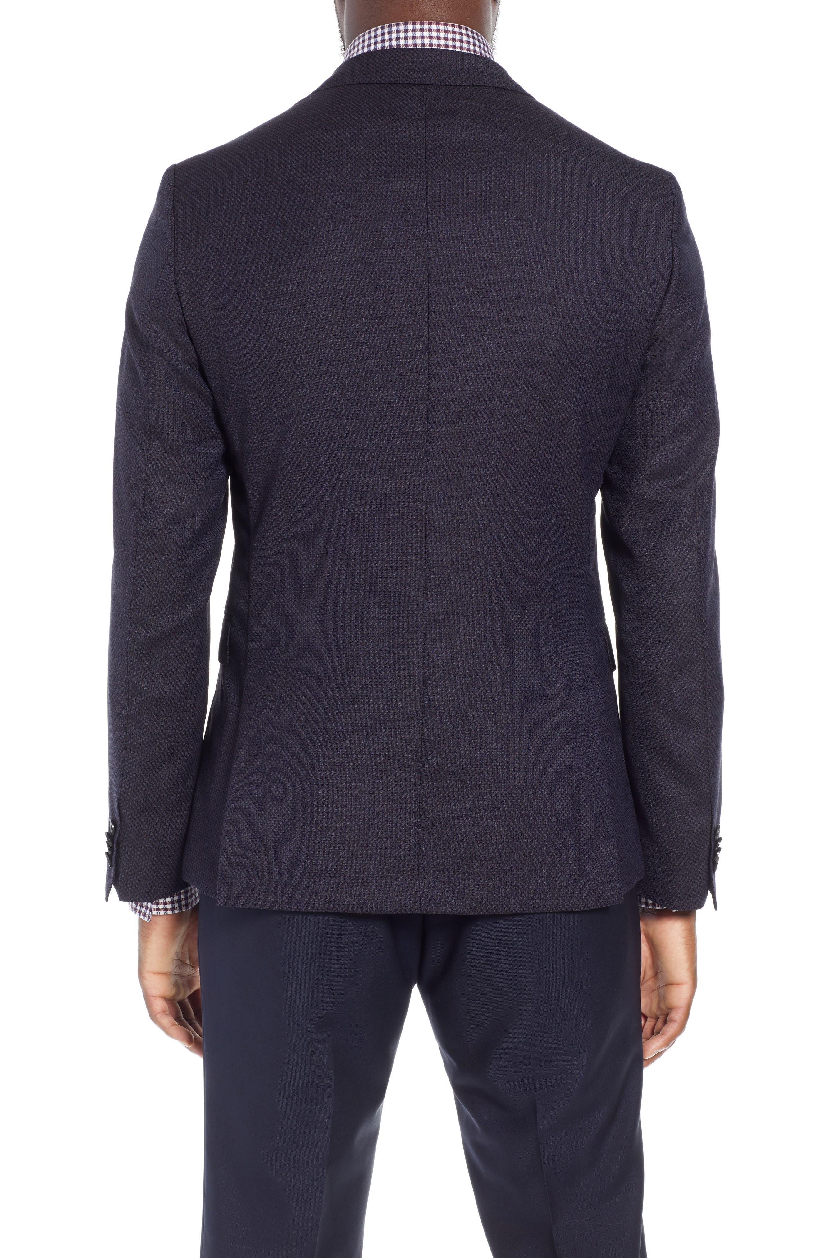 BOSS, x Nordstrom Nobis Trim Fit Wool Blazer, Alternate thumbnail 2, color, 400