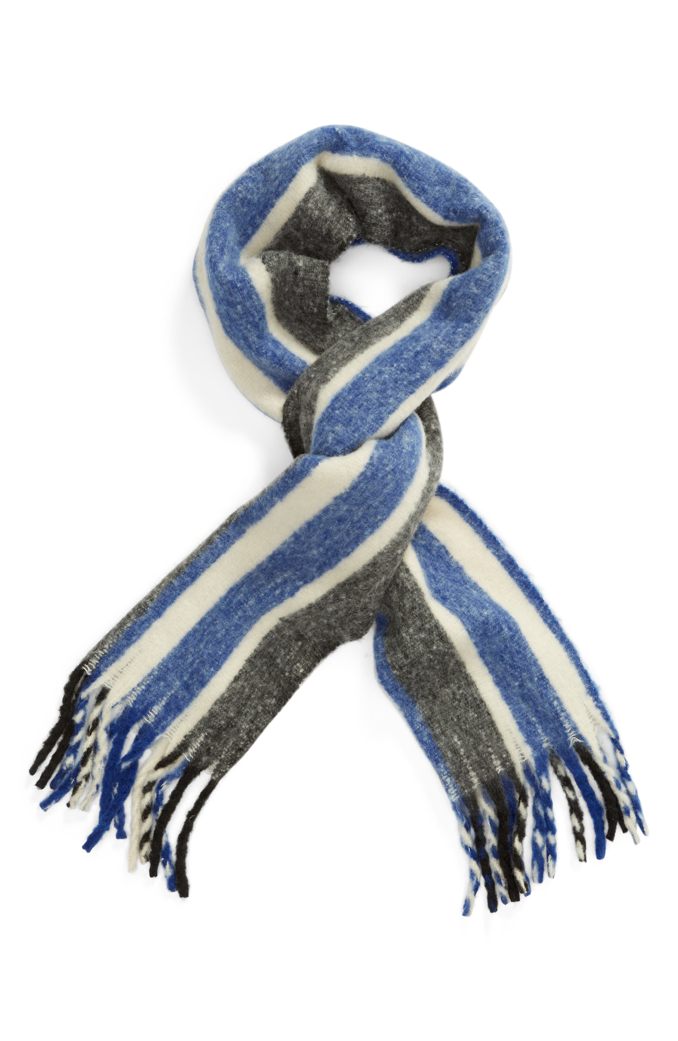 TREASURE & BOND, Striped Scarf, Alternate thumbnail 2, color, 400