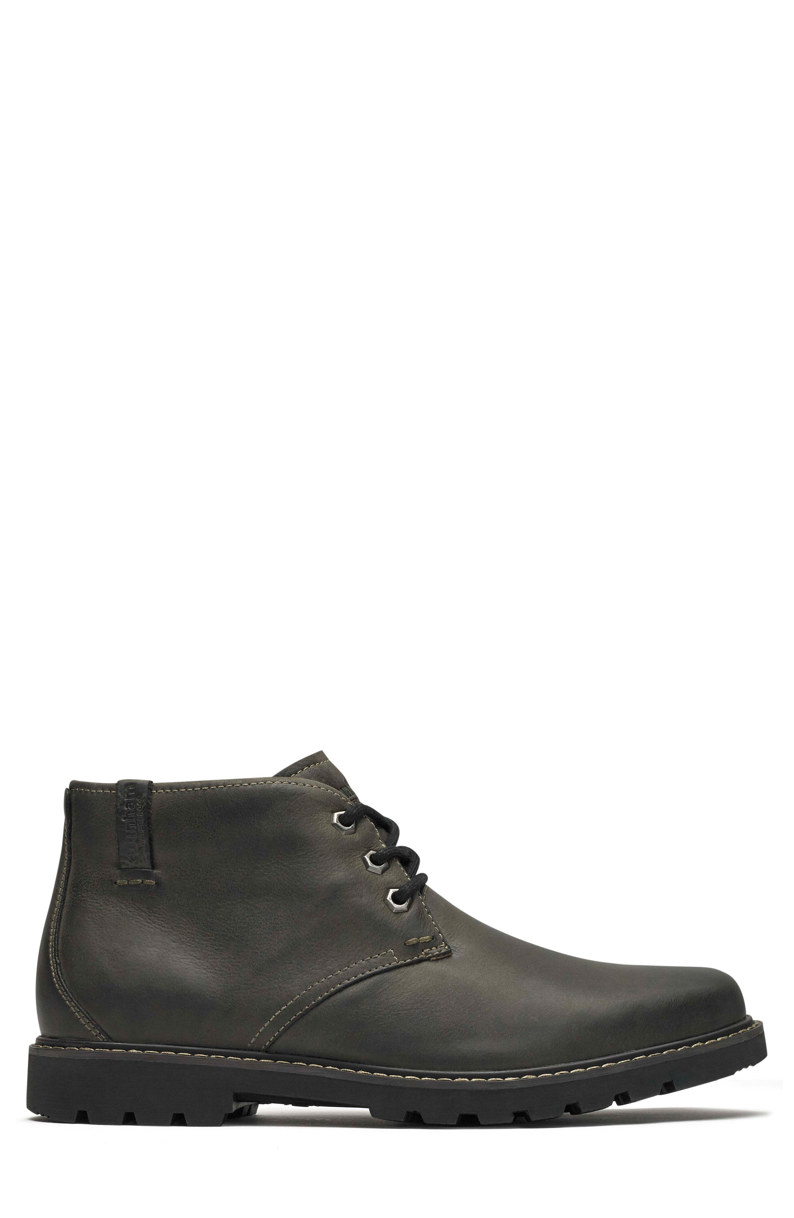 DUNHAM, Royalton Chukka Boot, Alternate thumbnail 3, color, FLAGSTONE LEATHER