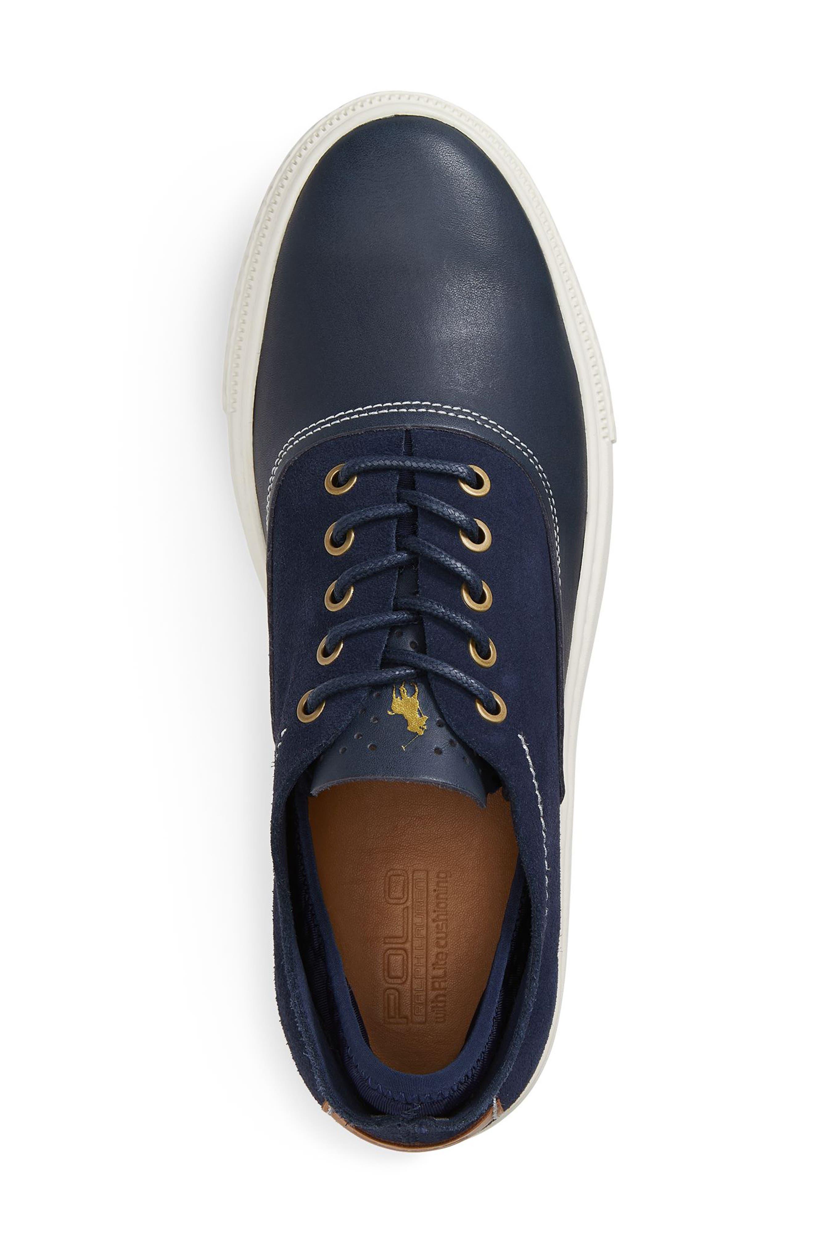 POLO RALPH LAUREN, Thorton 100 Sneaker, Alternate thumbnail 4, color, 410
