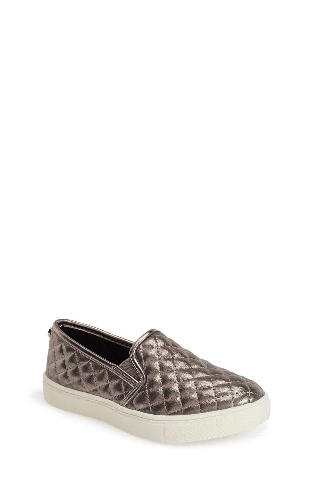 STEVE MADDEN Ecentrcq Sneaker, Main, color, SILVER