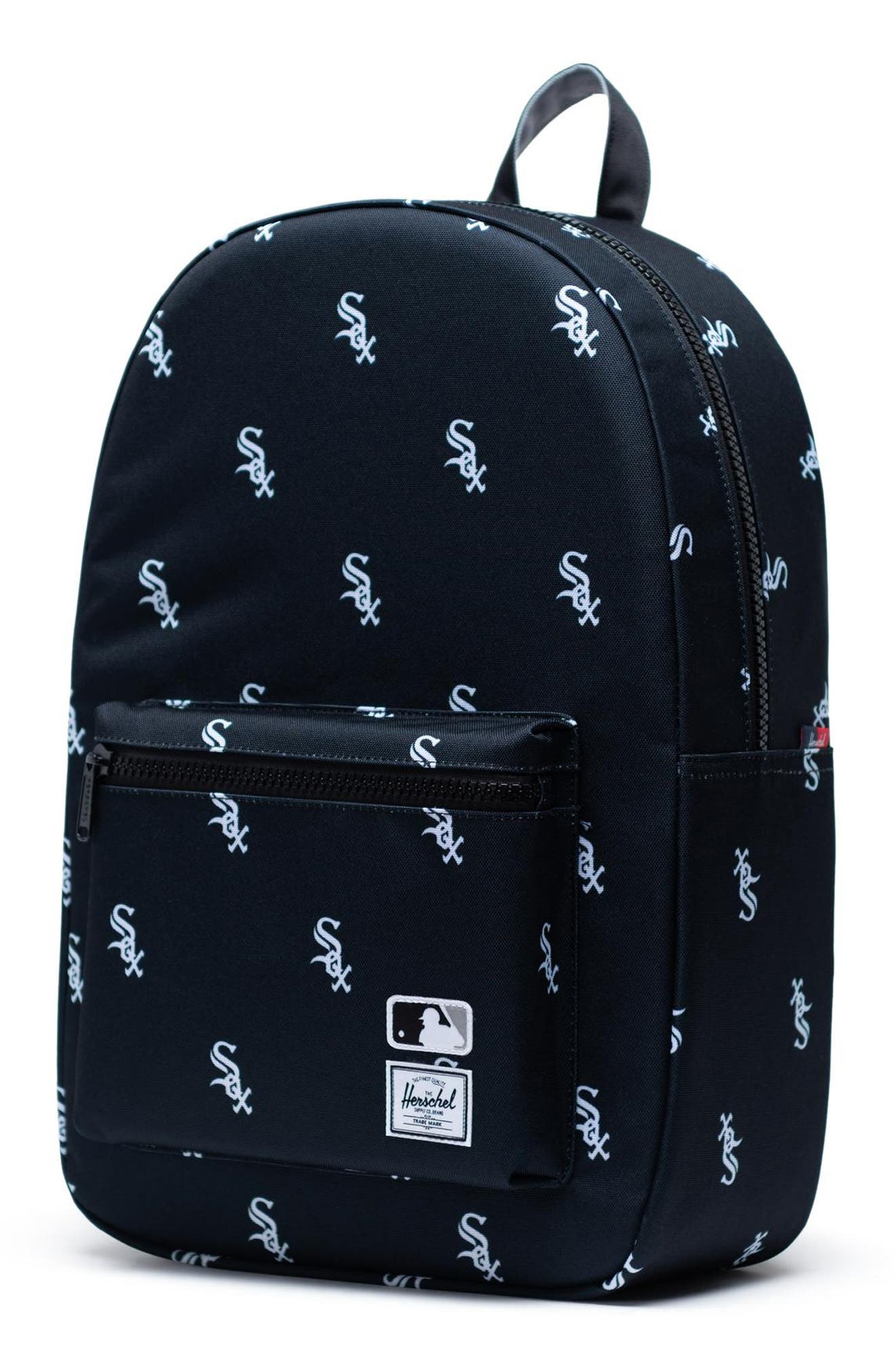 HERSCHEL SUPPLY CO., Settlement - MLB Outfield Backpack, Alternate thumbnail 4, color, CHICAGO WHITE SOX