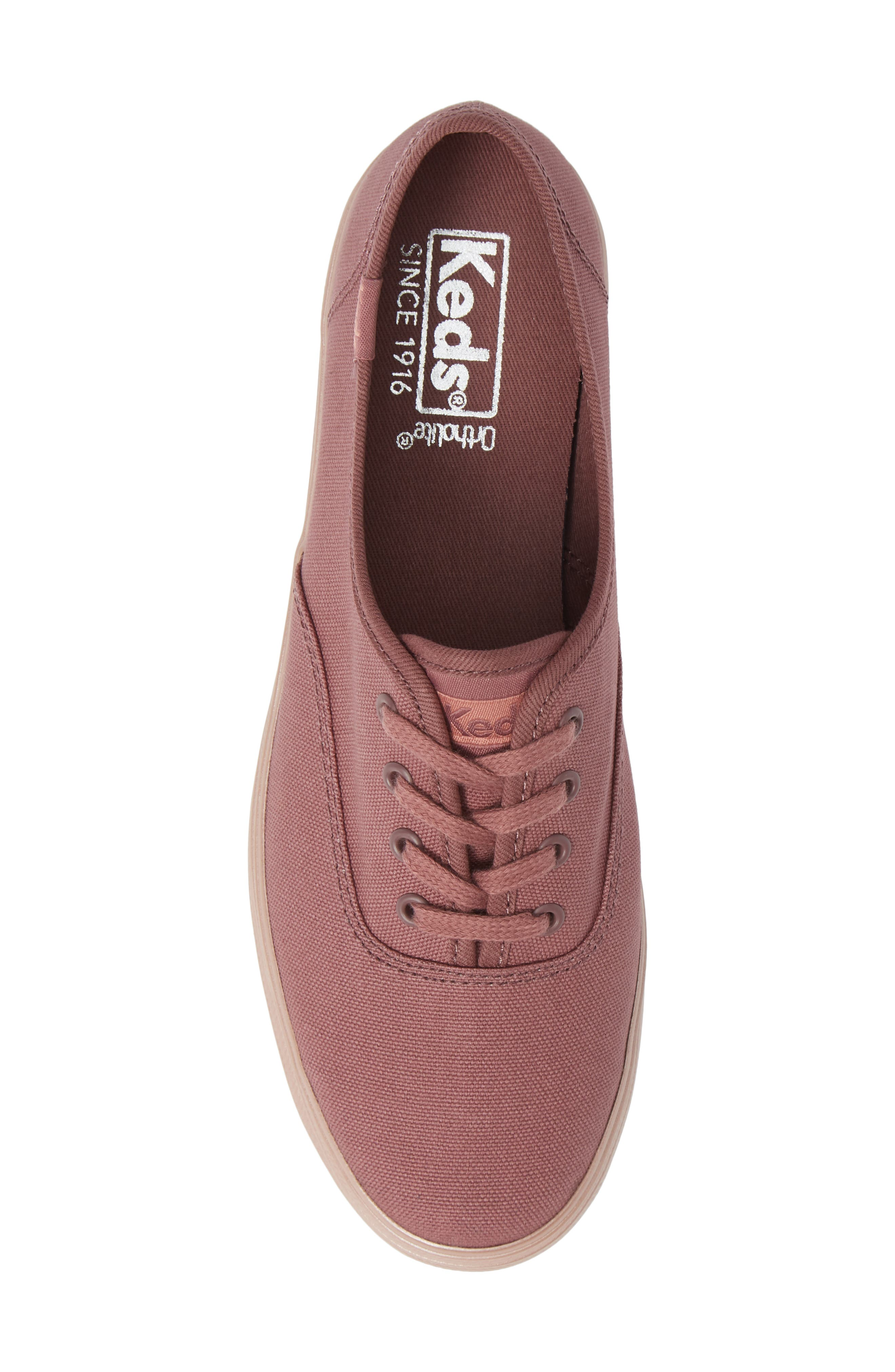 KEDS<SUP>®</SUP>, Triple Shimmer Sneaker, Alternate thumbnail 5, color, MAUVE