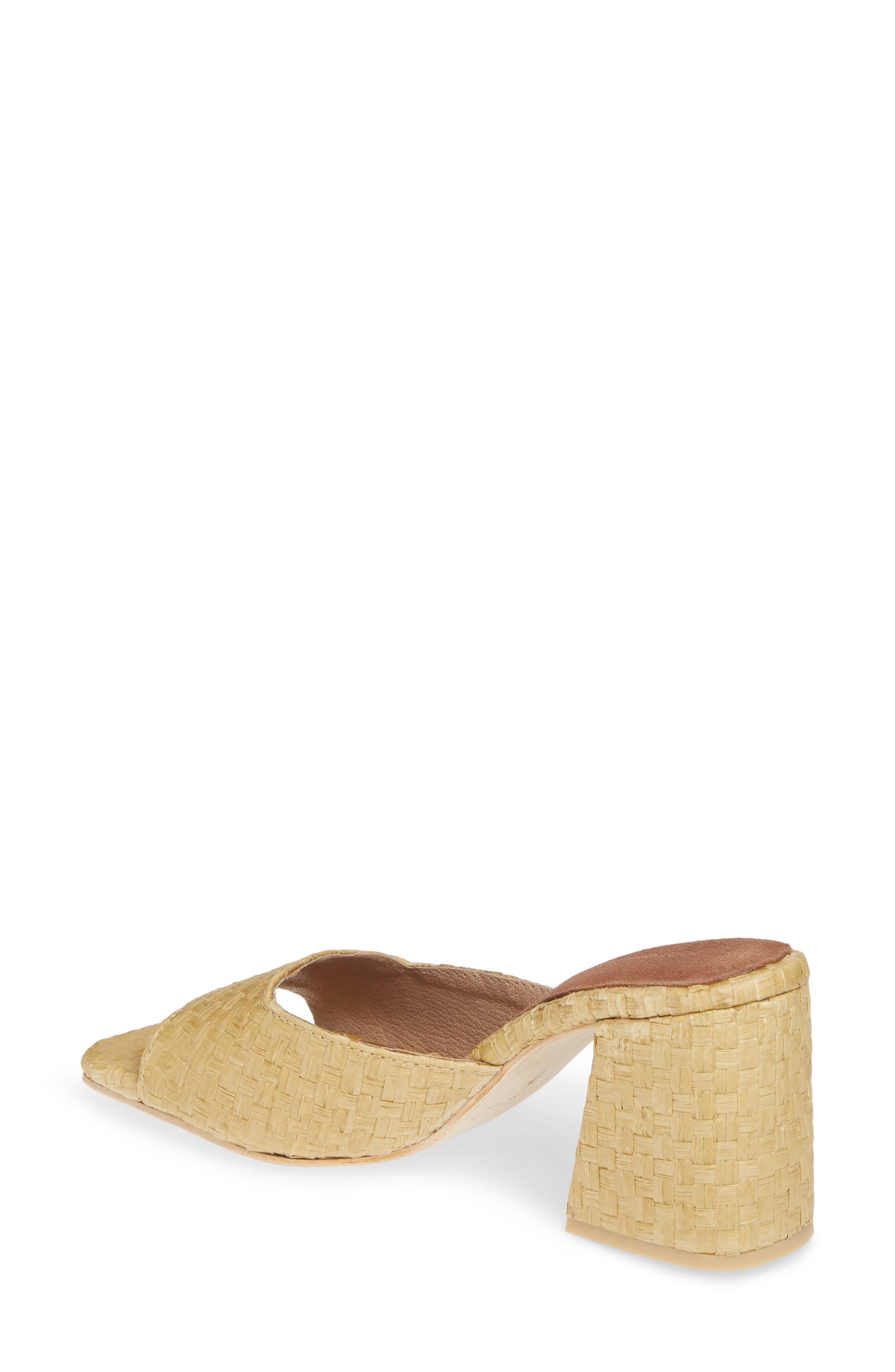 JEFFREY CAMPBELL, Mélange Raffia Slide Sandal, Alternate thumbnail 2, color, 200