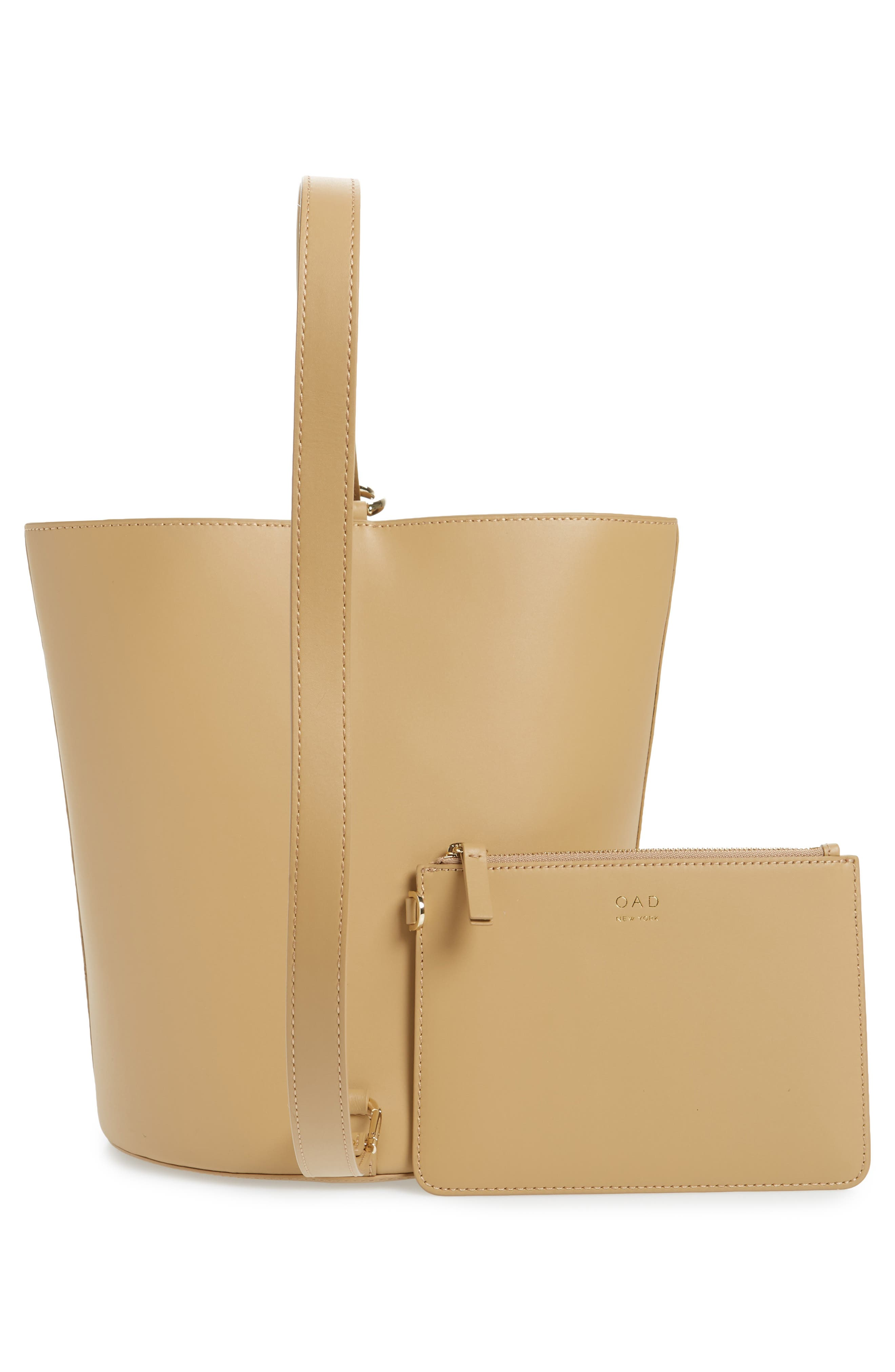 OAD NEW YORK, Dome Leather Bucket Bag, Alternate thumbnail 5, color, 250