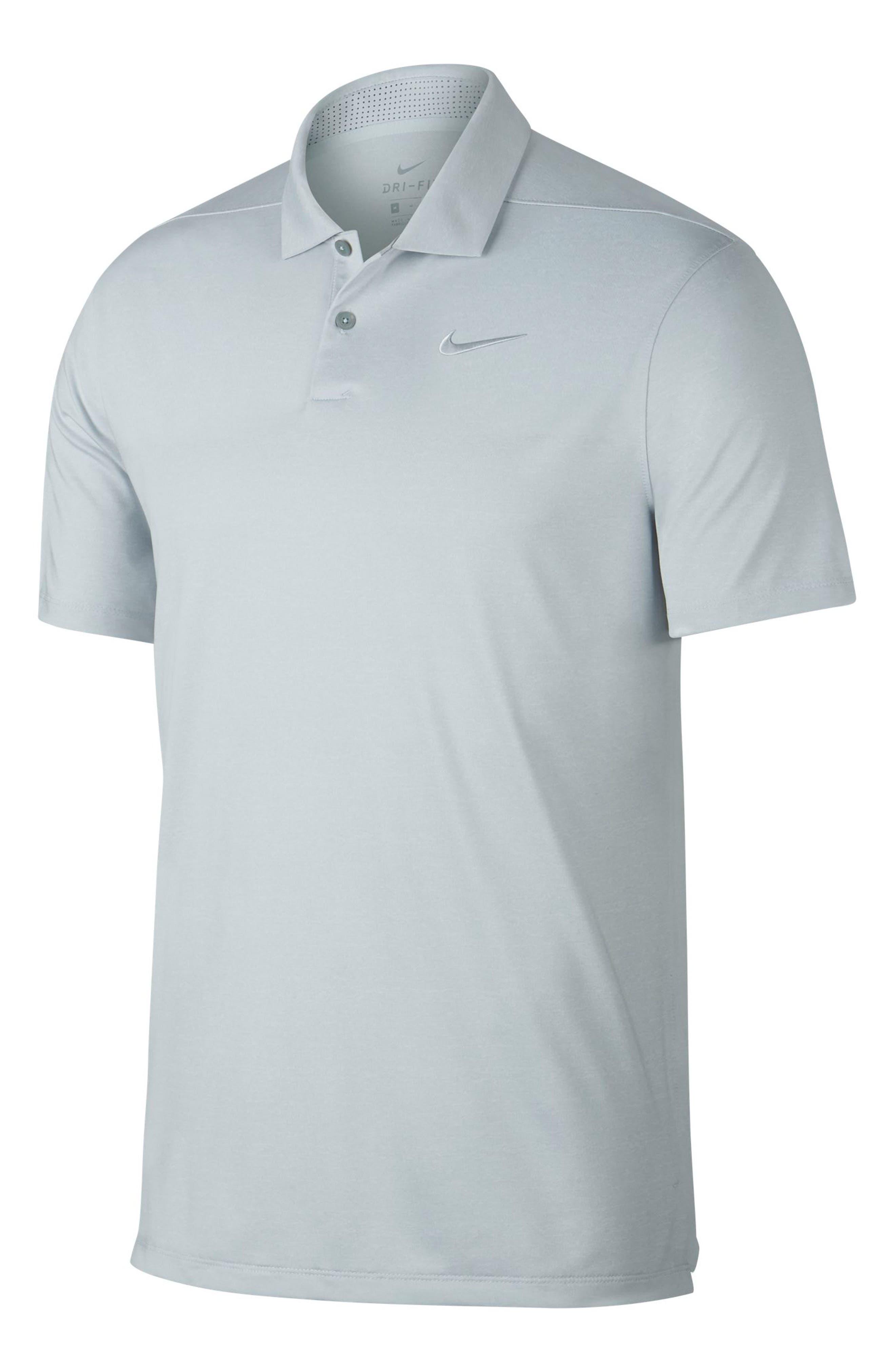 NIKE, Vapor Dri-FIT Golf Polo, Main thumbnail 1, color, PURE PLATINUM/ PURE