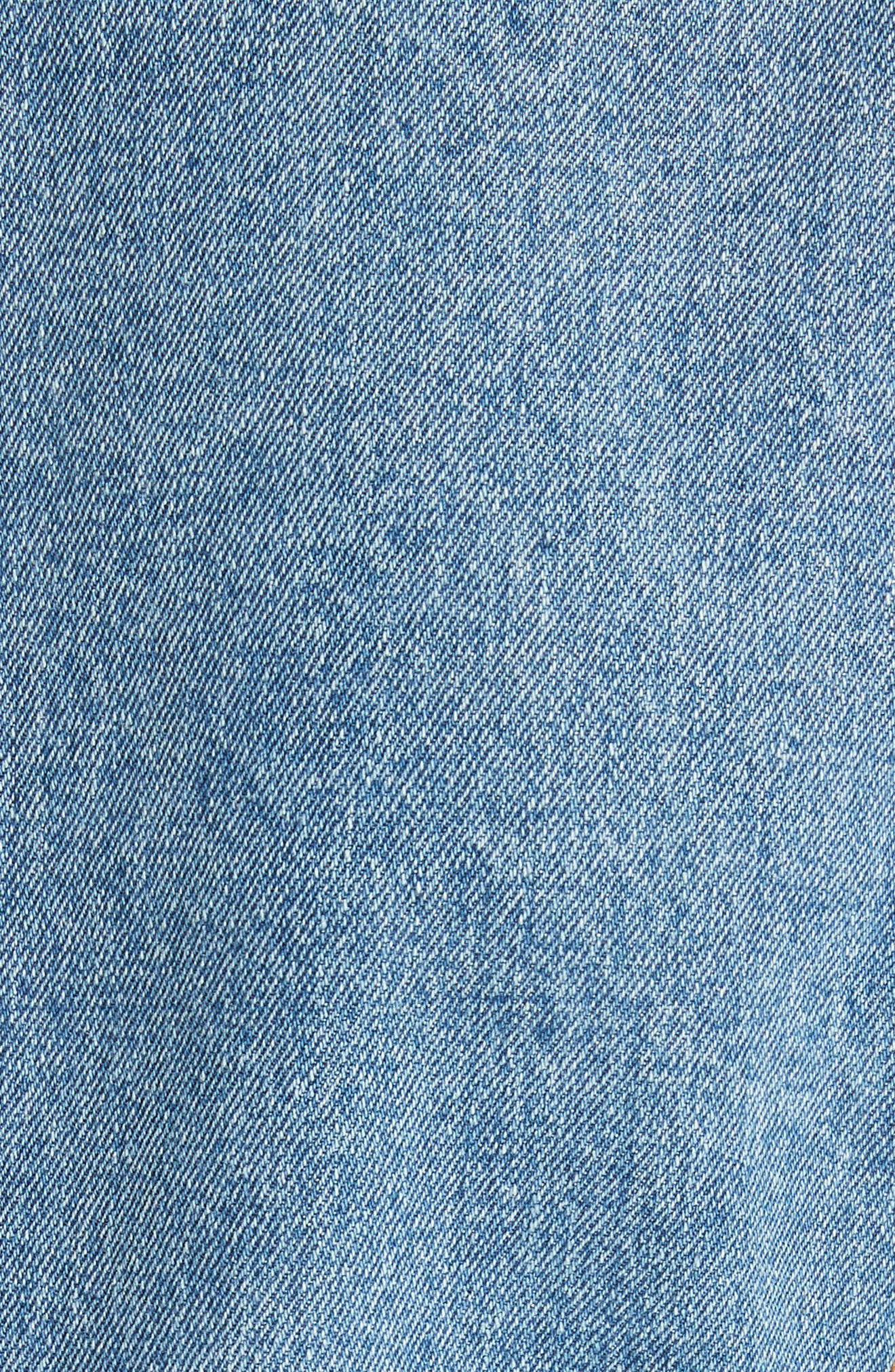 VERONICA BEARD, Caden Denim Dickey Jacket, Alternate thumbnail 7, color, MID BLUE