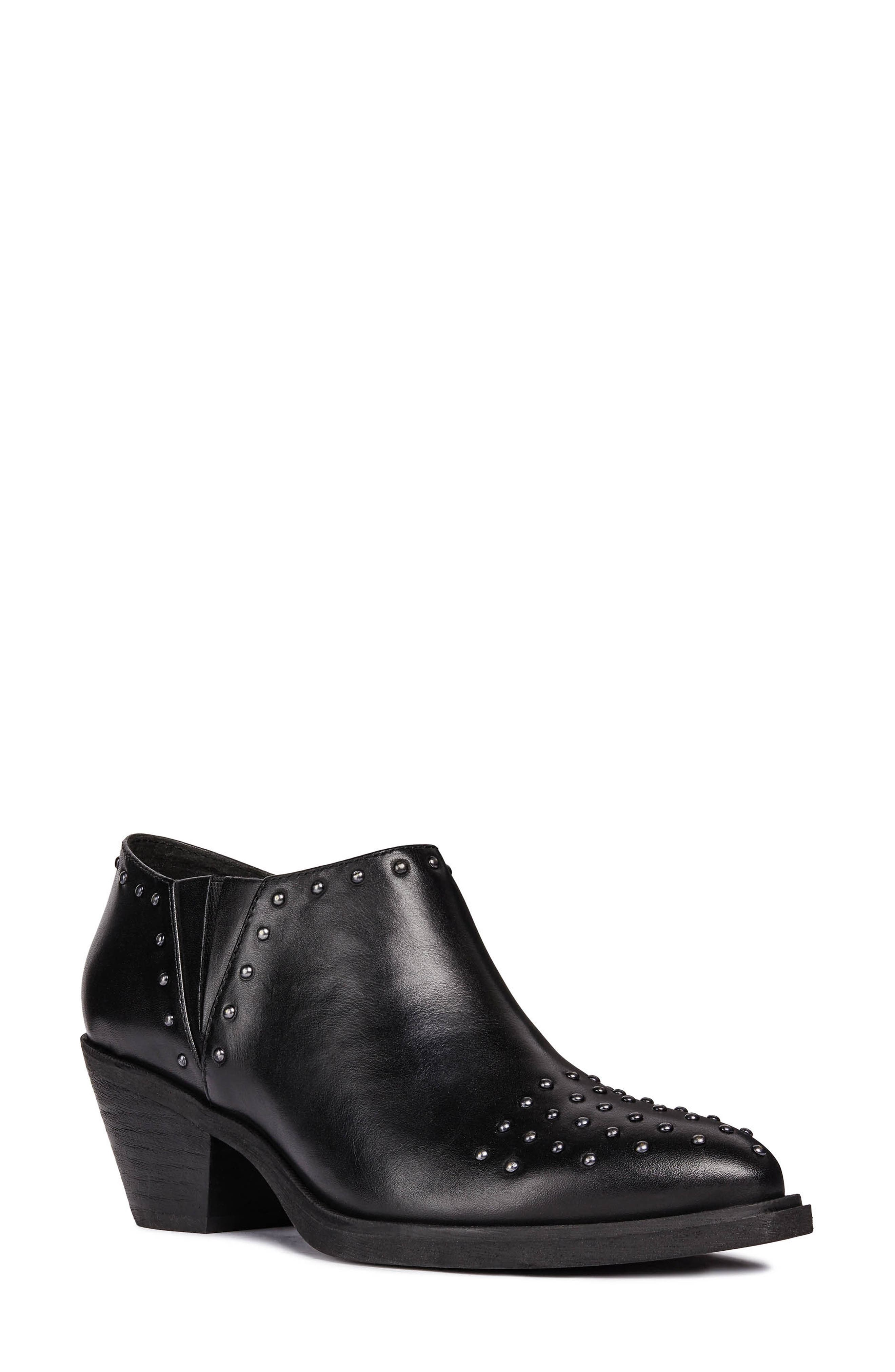 GEOX Lovai Ankle Boot, Main, color, BLACK LEATHER