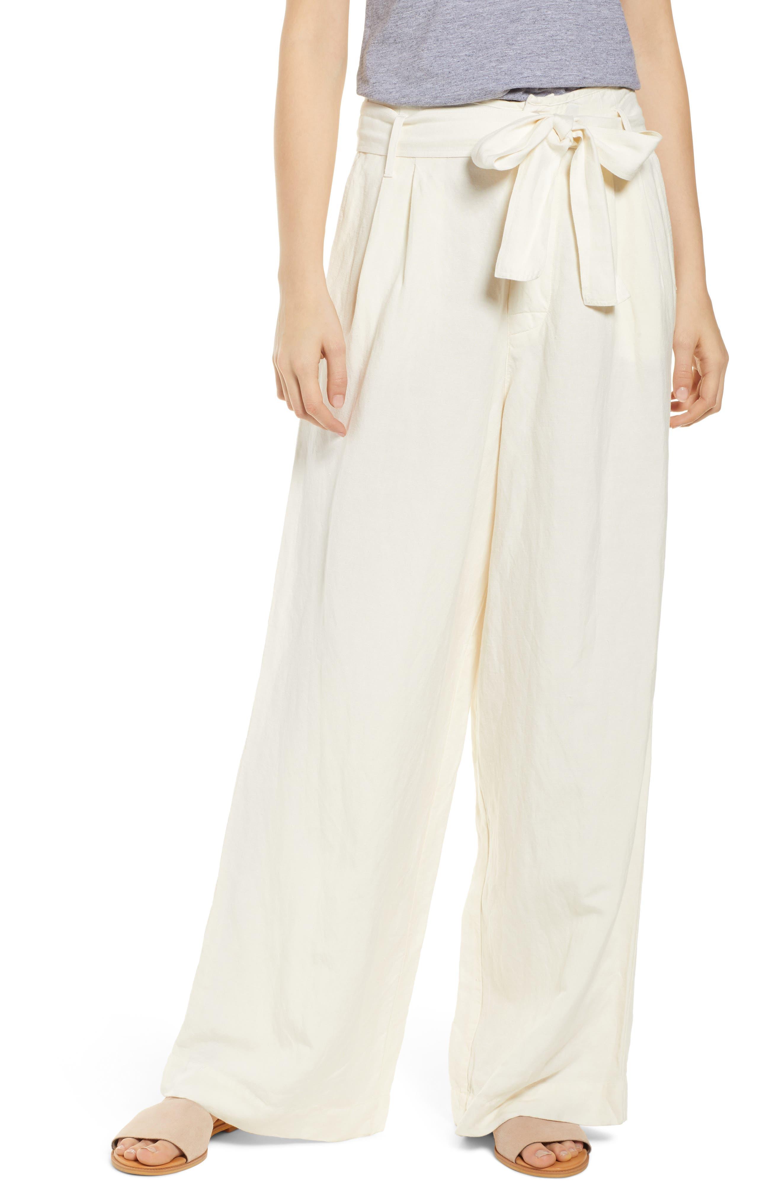 RAILS Jess Paperbag Waist Pants, Main, color, PARCHMENT