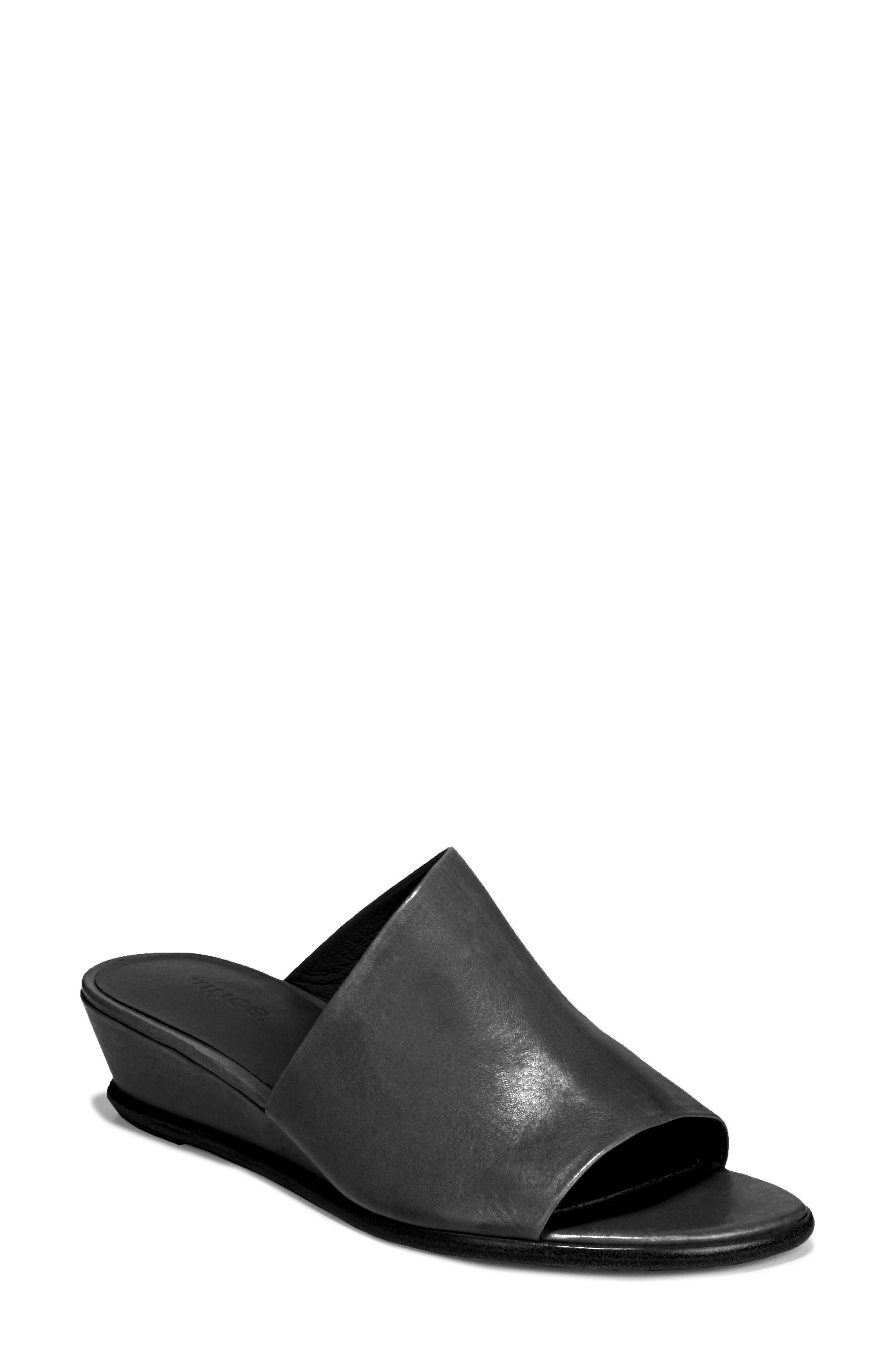 VINCE, Duvall Asymmetrical Wedge Sandal, Main thumbnail 1, color, BLACK