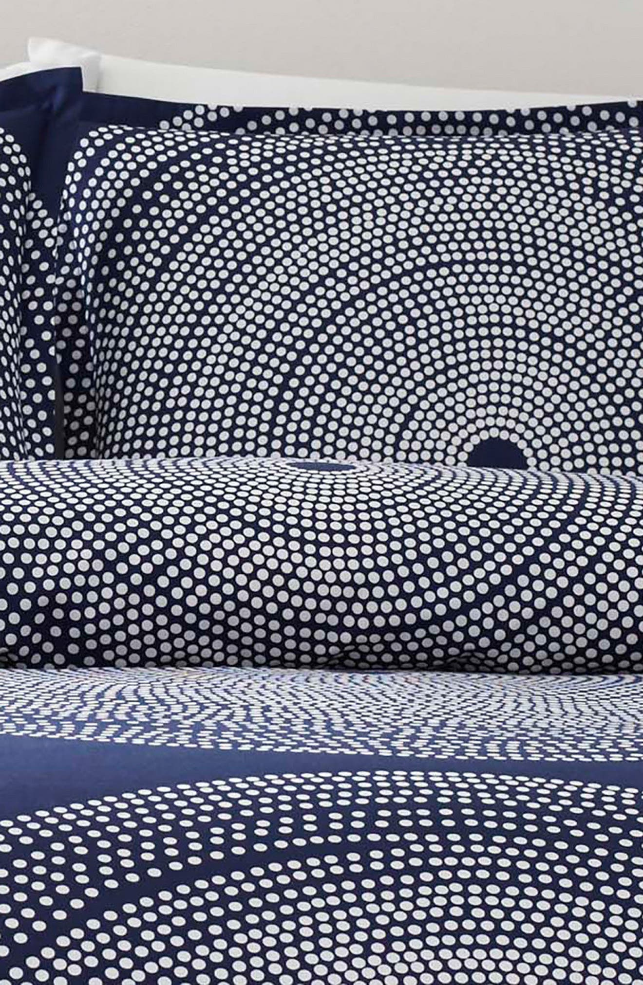MARIMEKKO, Fokus Comforter & Sham Set, Alternate thumbnail 3, color, DARK BLUE