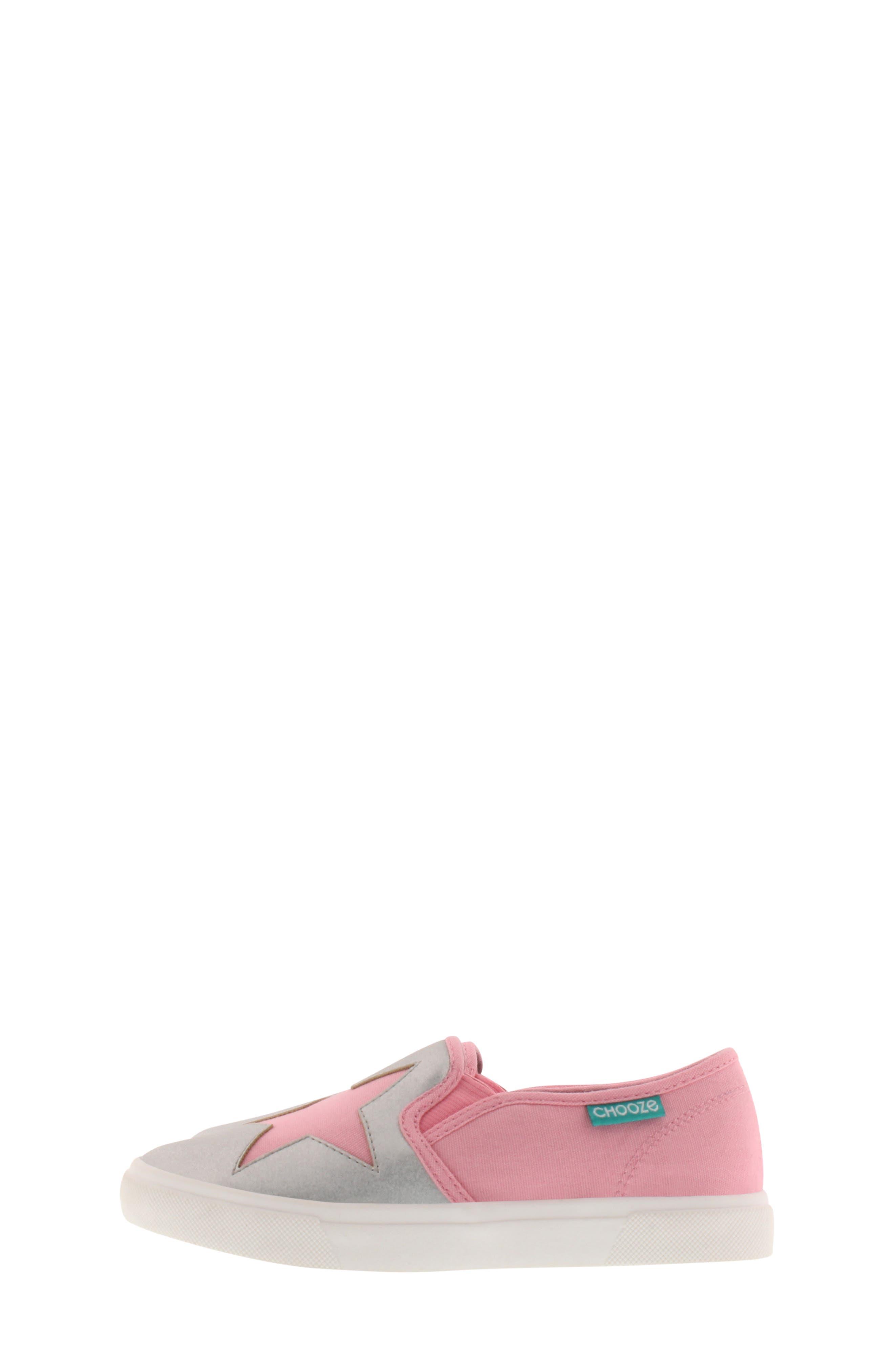 CHOOZE, Little Choice Starheart Slip-On Sneaker, Alternate thumbnail 8, color, SILVER