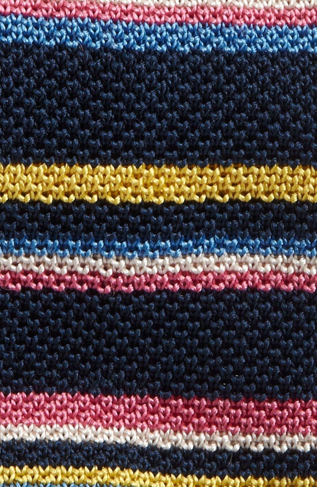 ETON, Stripe Knit Tie, Alternate thumbnail 2, color, 401