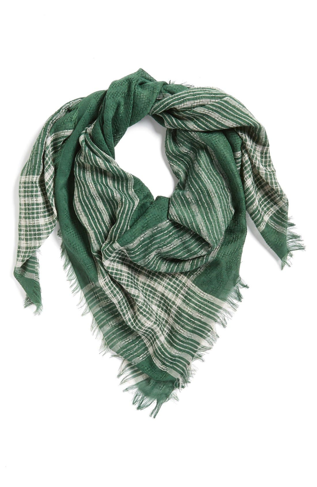 BP. Check Square Scarf, Main, color, 310