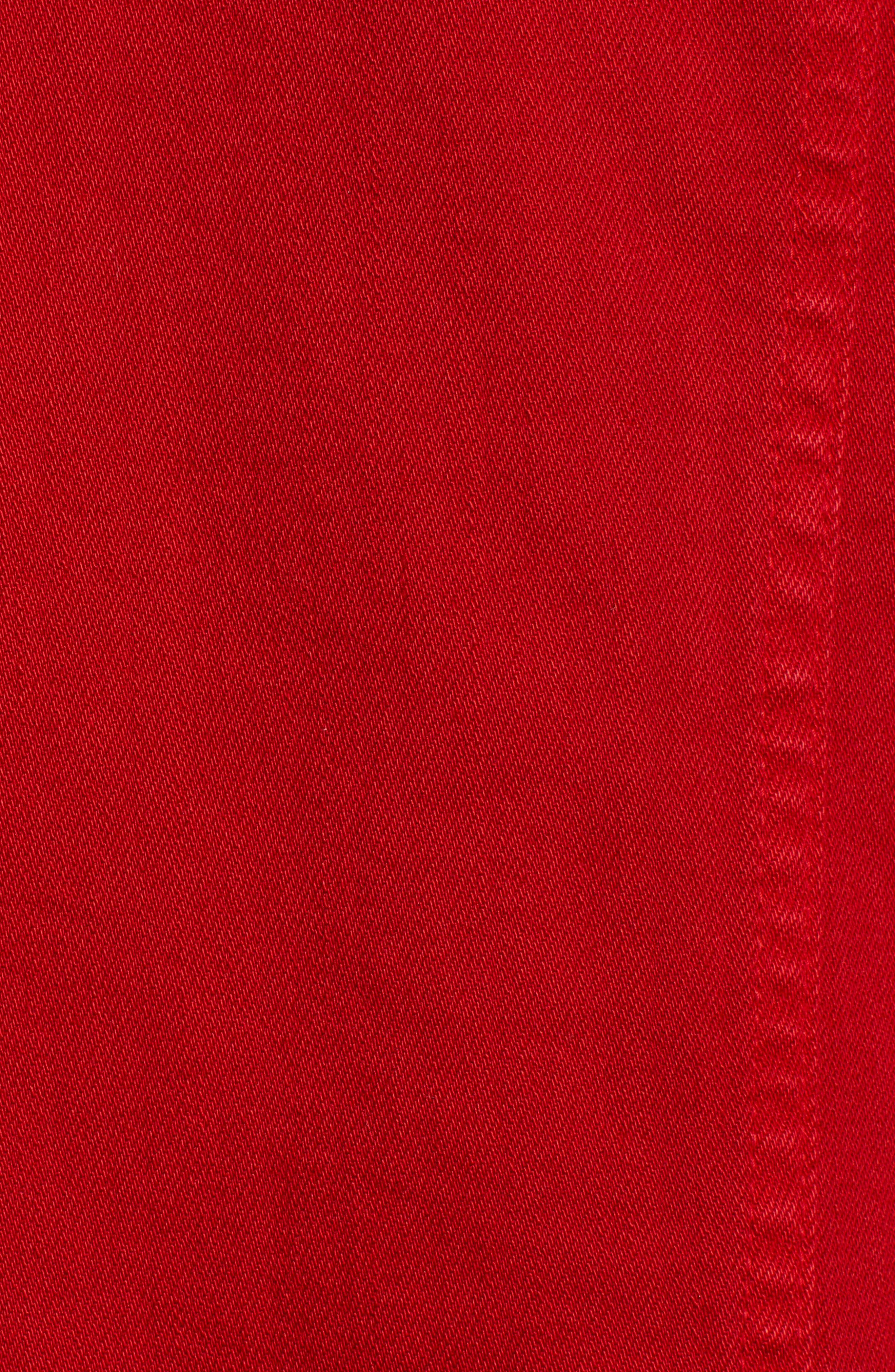 AG, Mya Denim Jacket, Alternate thumbnail 7, color, 01Y HI WHITE CLEVER RED