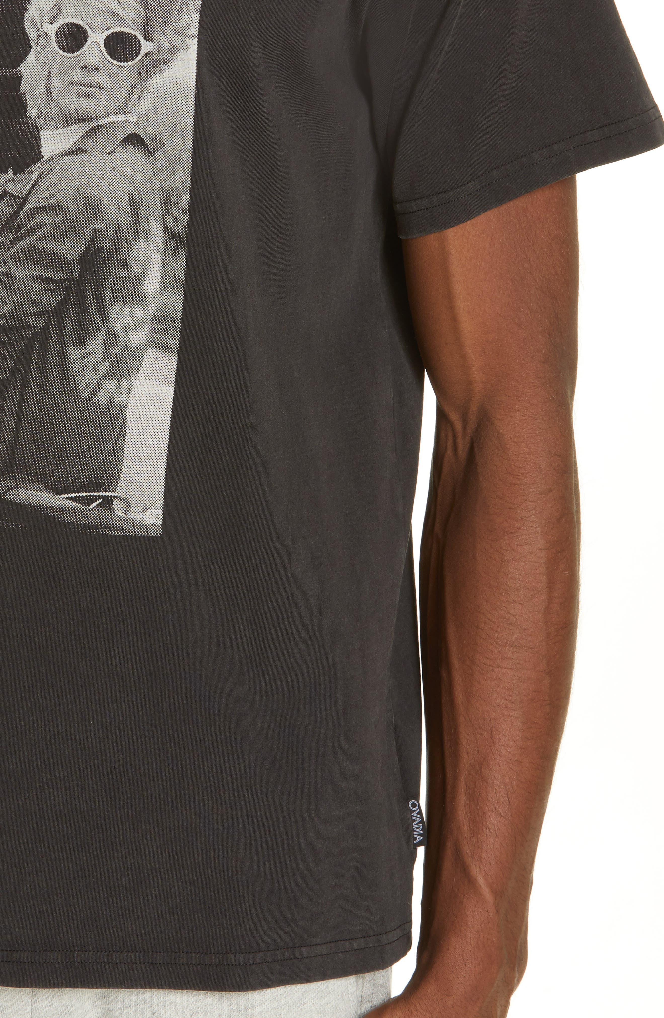 OVADIA & SONS, Bike Photo Graphic T-Shirt, Alternate thumbnail 4, color, BLACK