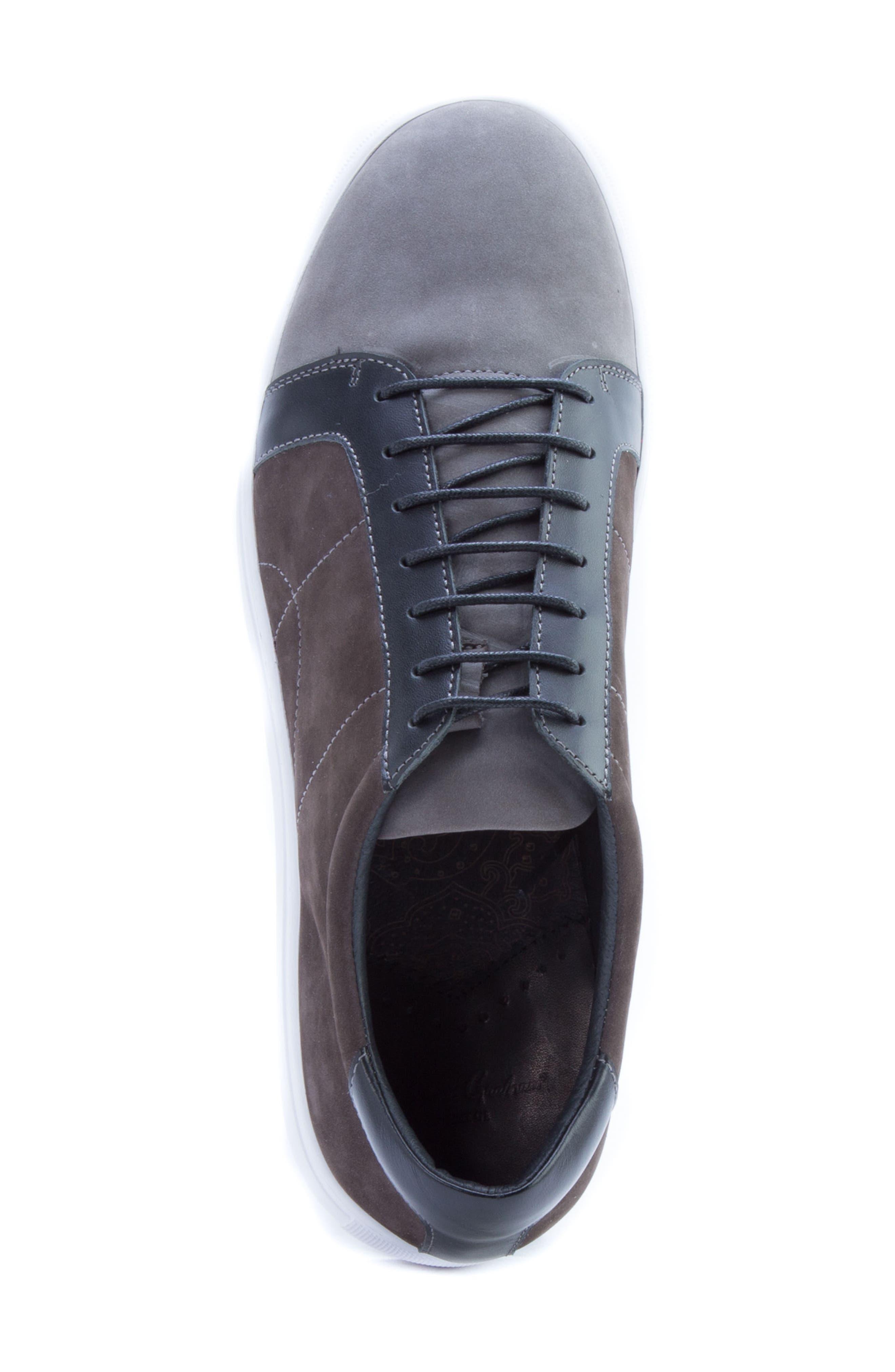 ROBERT GRAHAM, Gonzalo Low Top Sneaker, Alternate thumbnail 5, color, GREY SUEDE