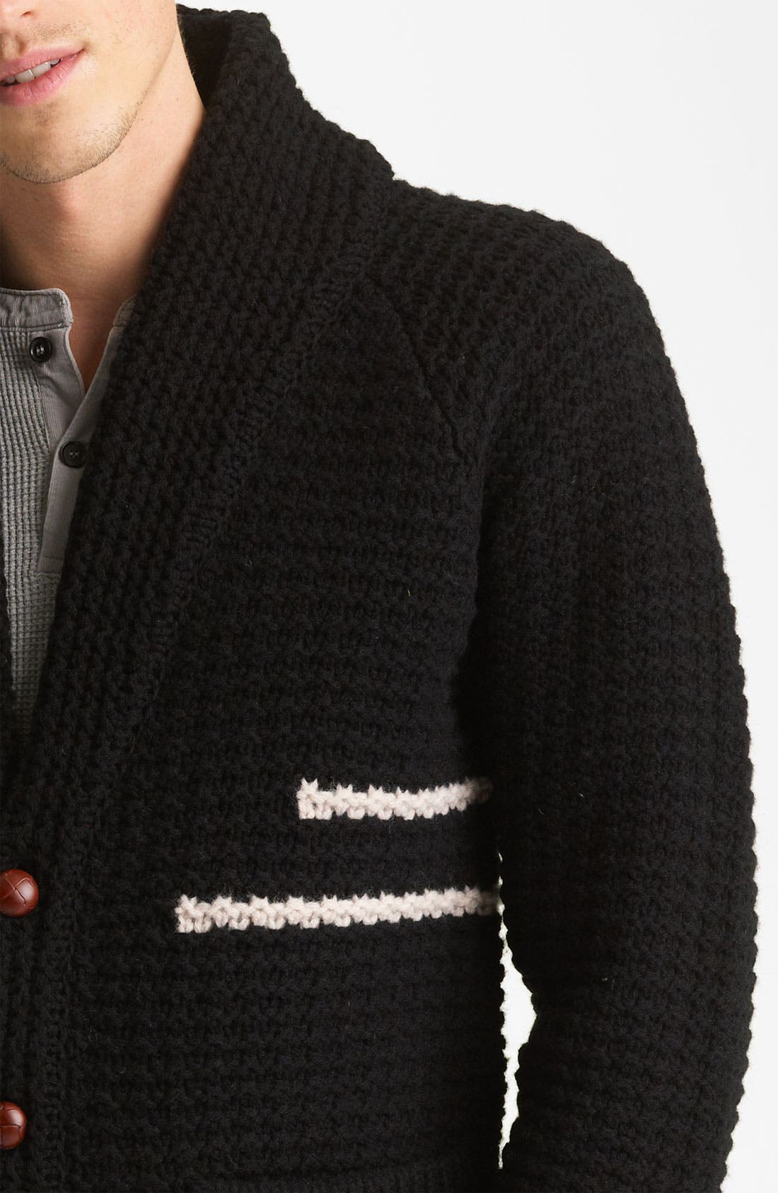 PENDLETON PORTLAND COLLECTION, 'Coos Curry' Lambswool Cardigan, Alternate thumbnail 2, color, 001