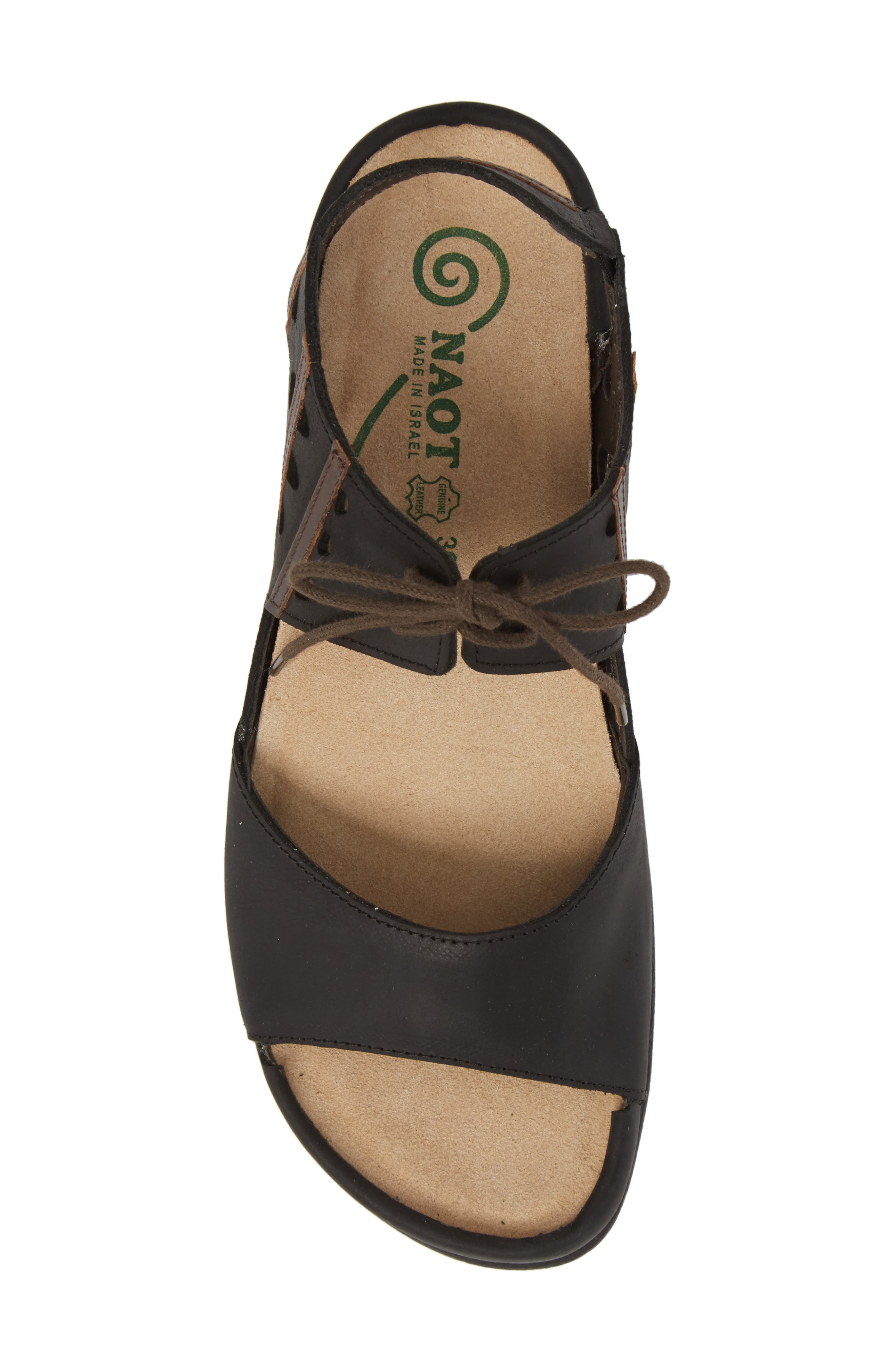 NAOT, Mangere Sandal, Alternate thumbnail 5, color, OILY COAL NUBUCK