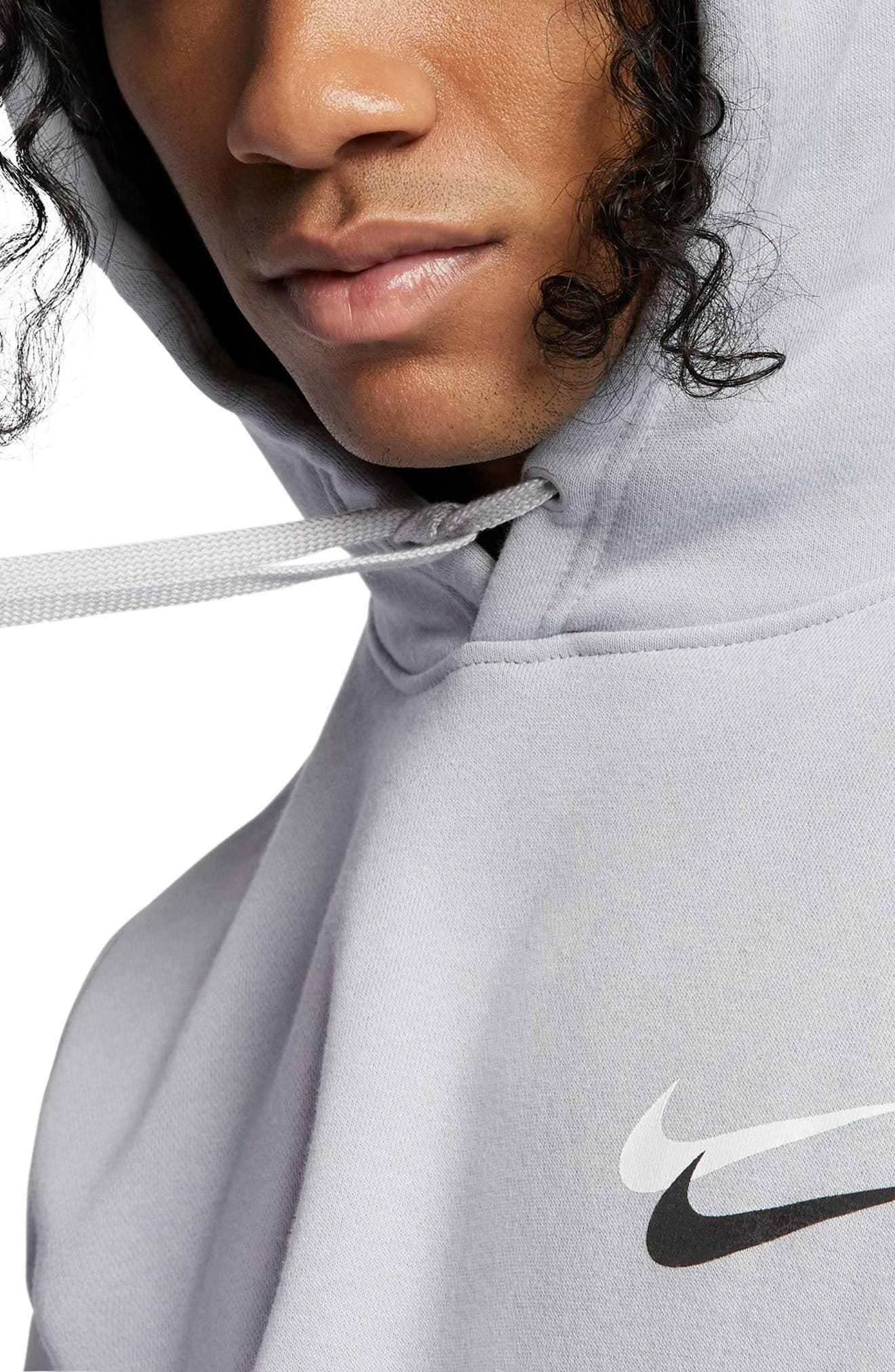 NIKE, Sportswear City Brights Club Men's Pullover Hoodie, Alternate thumbnail 3, color, WOLF GREY/ WHITE/ PLATINUM