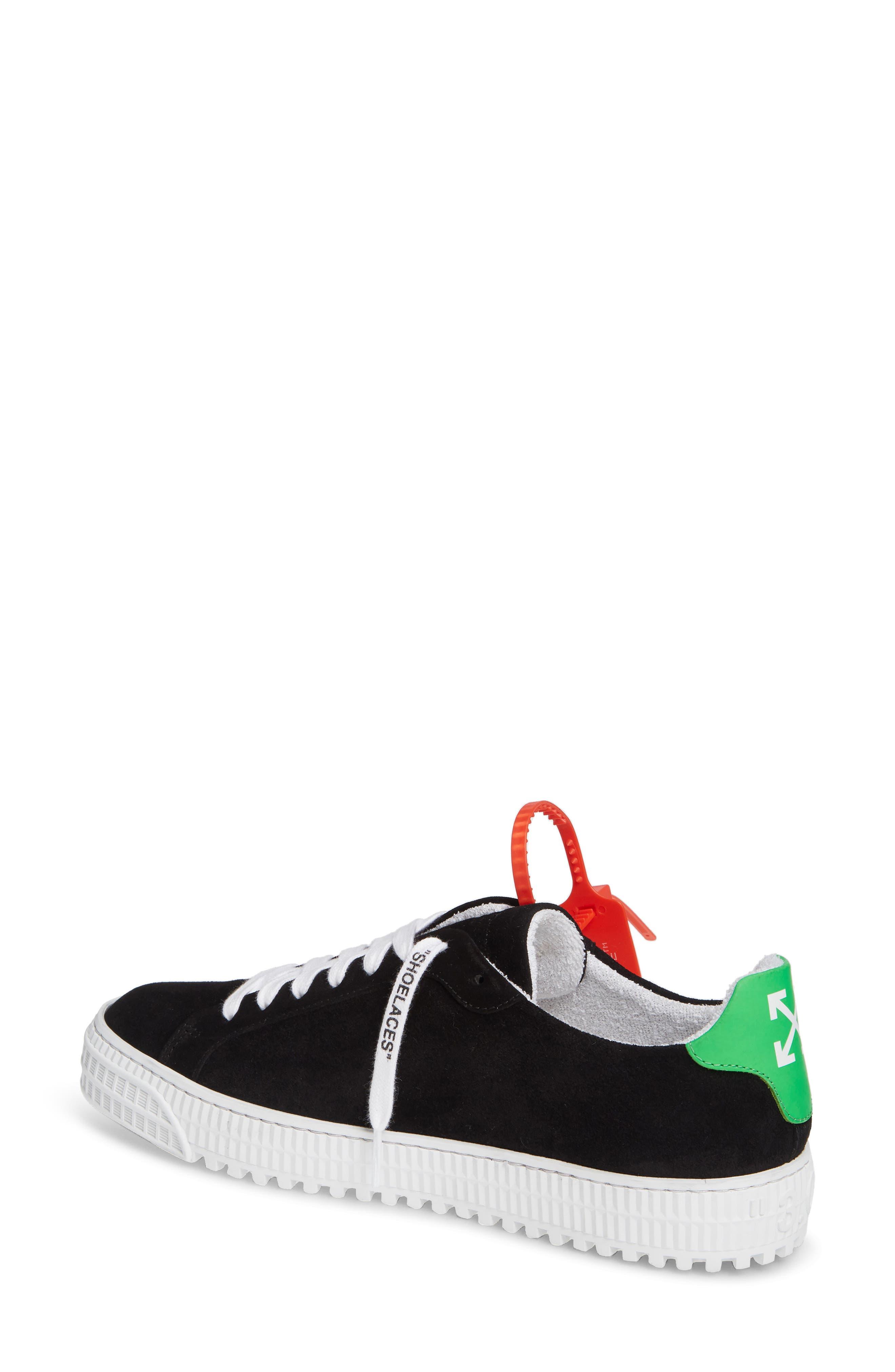 OFF-WHITE, Arrow Sneaker, Alternate thumbnail 2, color, BLACK WHITE