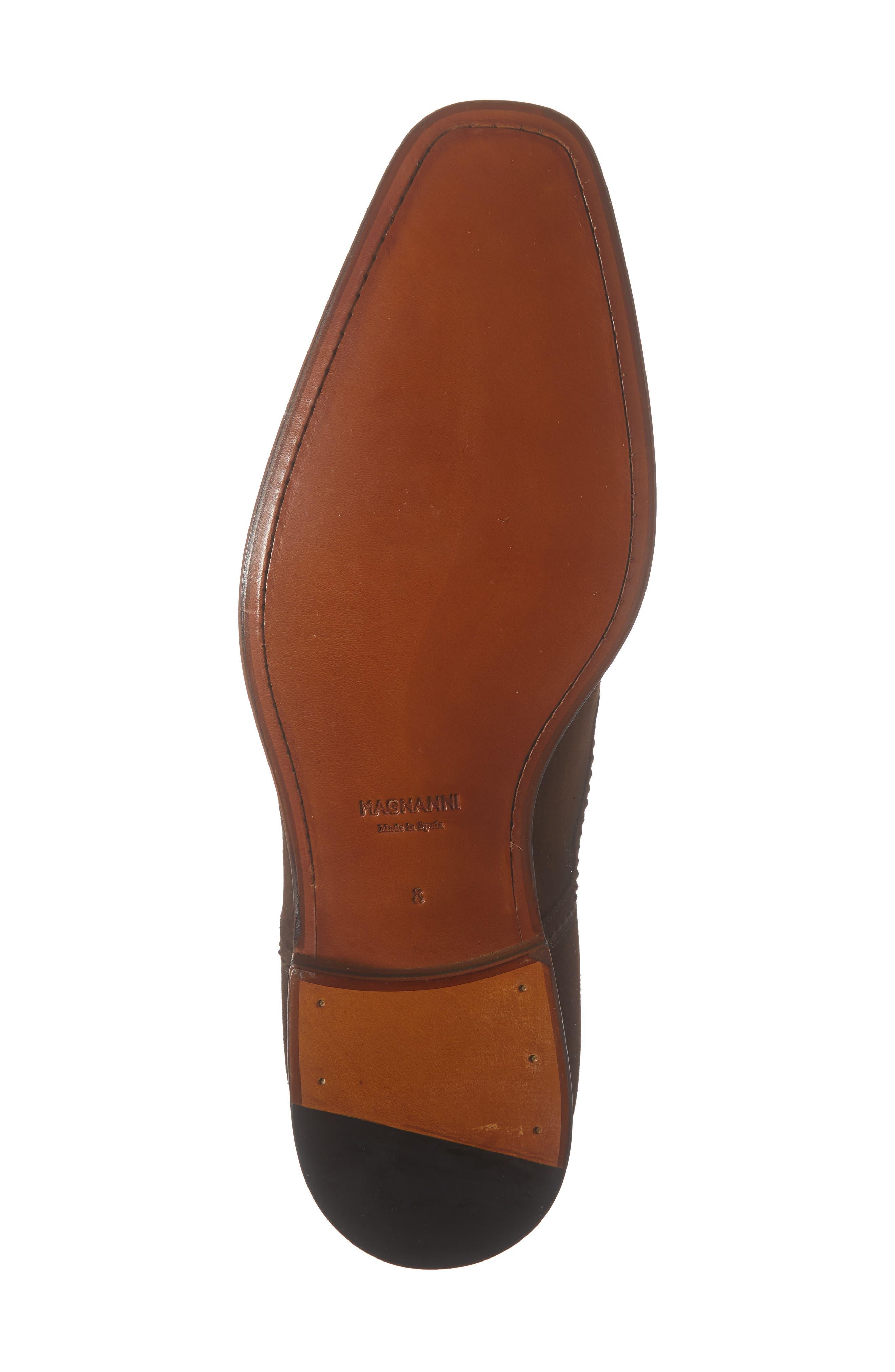 MAGNANNI, Landon Double Strap Monk Shoe, Alternate thumbnail 6, color, MID BROWN