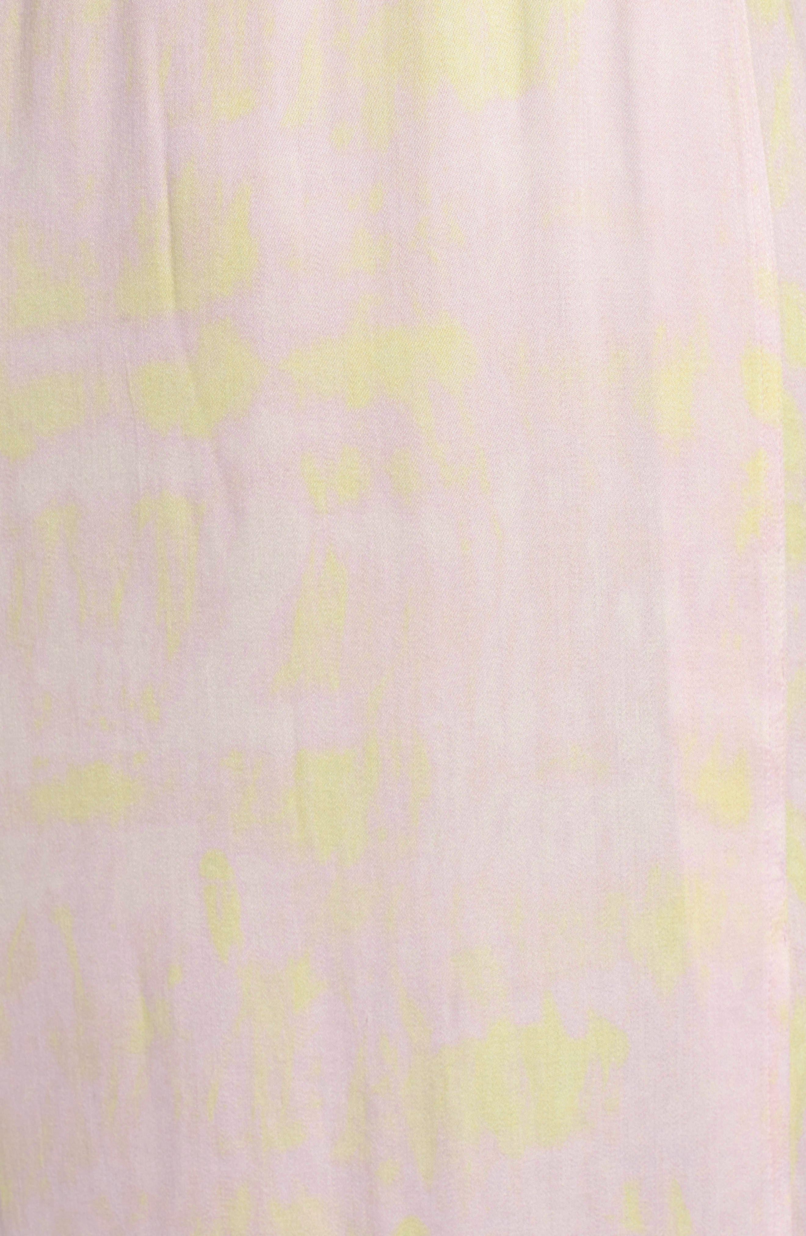 SOMETHING NAVY, Front Slit Midi Dress, Alternate thumbnail 8, color, 680
