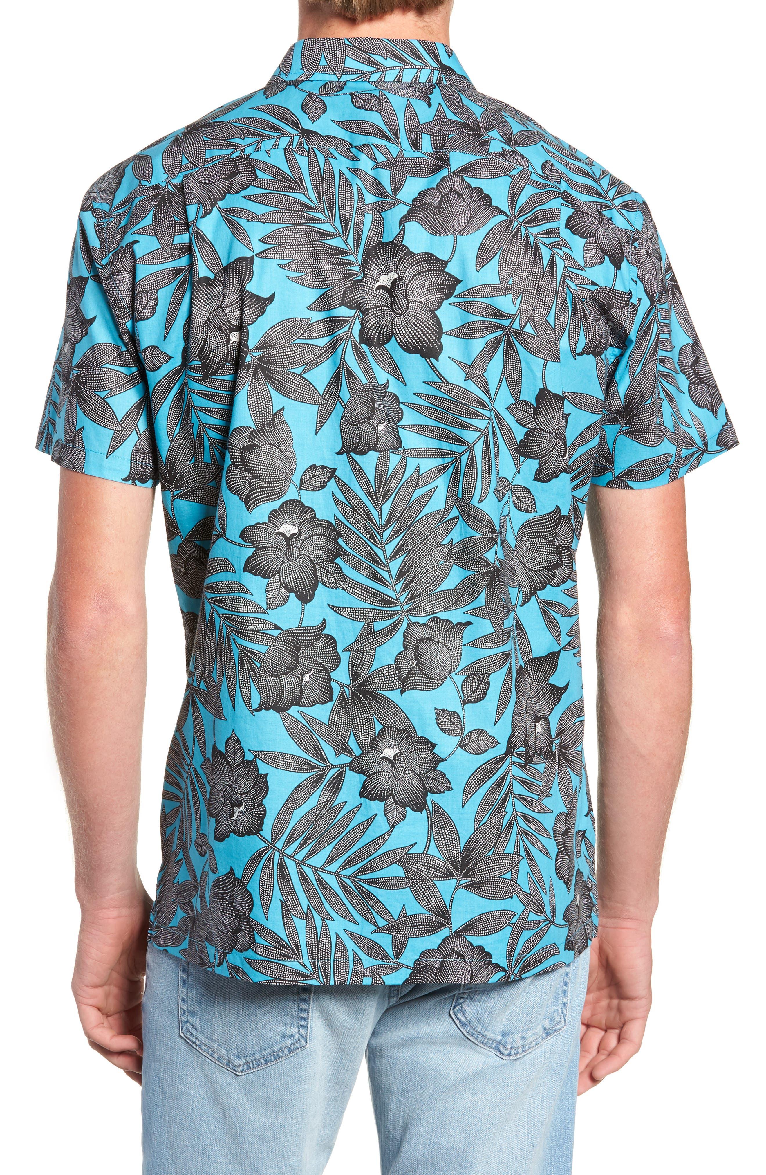TORI RICHARD, Pollenesia Regular Fit Sport Shirt, Alternate thumbnail 3, color, SURF