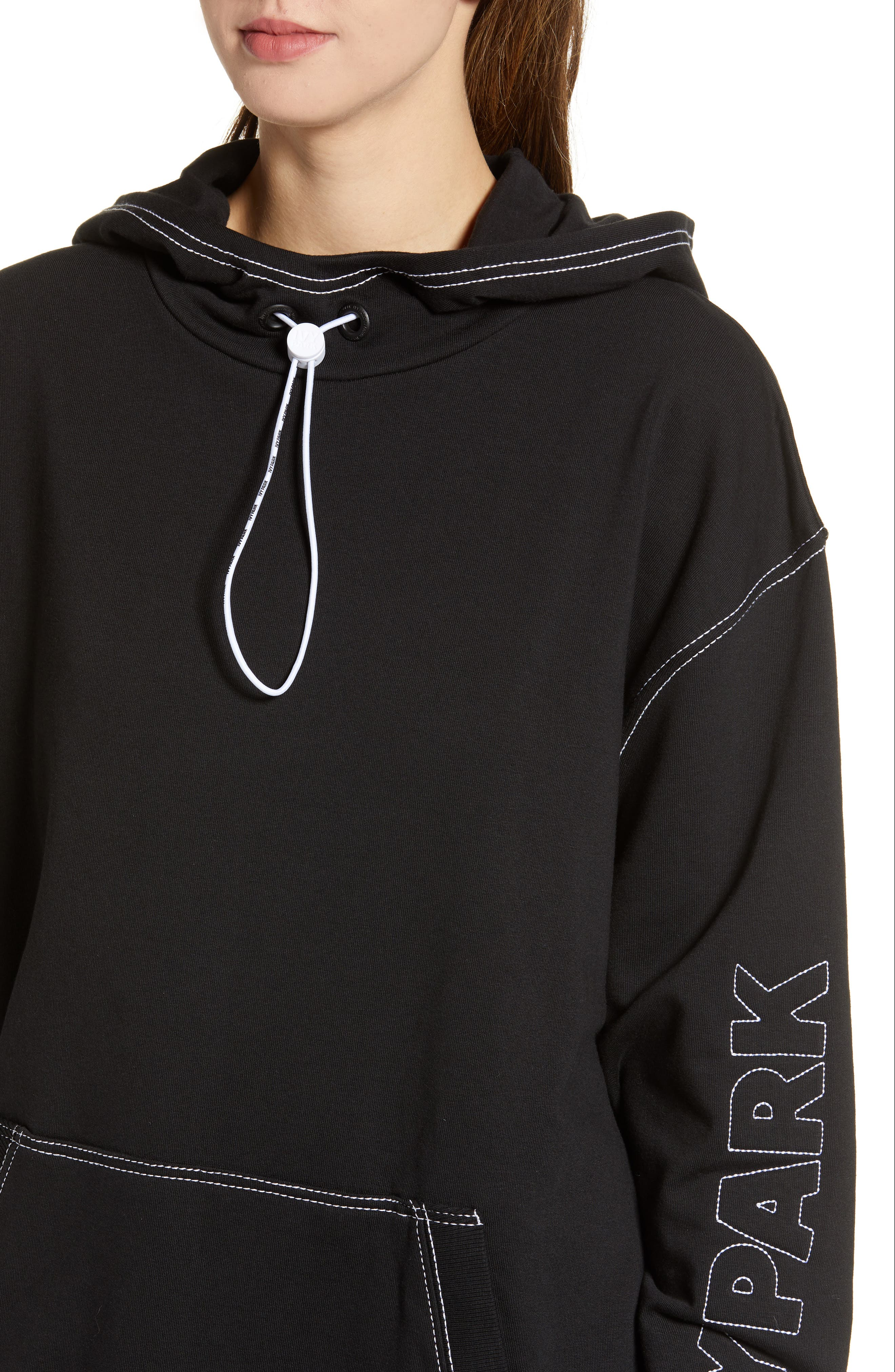 IVY PARK<SUP>®</SUP>, Stab Stitch Hoodie, Alternate thumbnail 5, color, 002