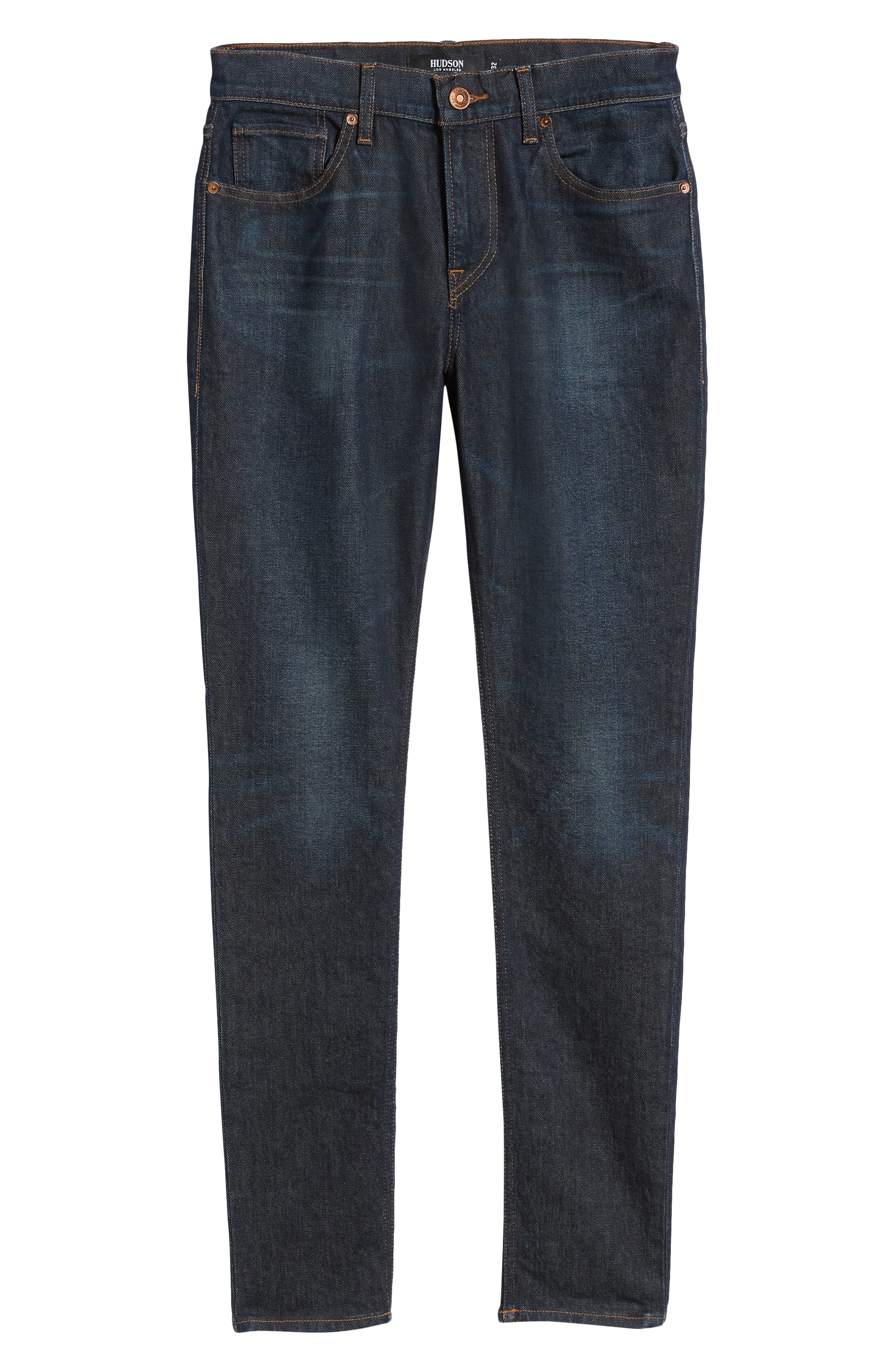 HUDSON JEANS, Axl Skinny Fit Jeans, Alternate thumbnail 6, color, VERKLER