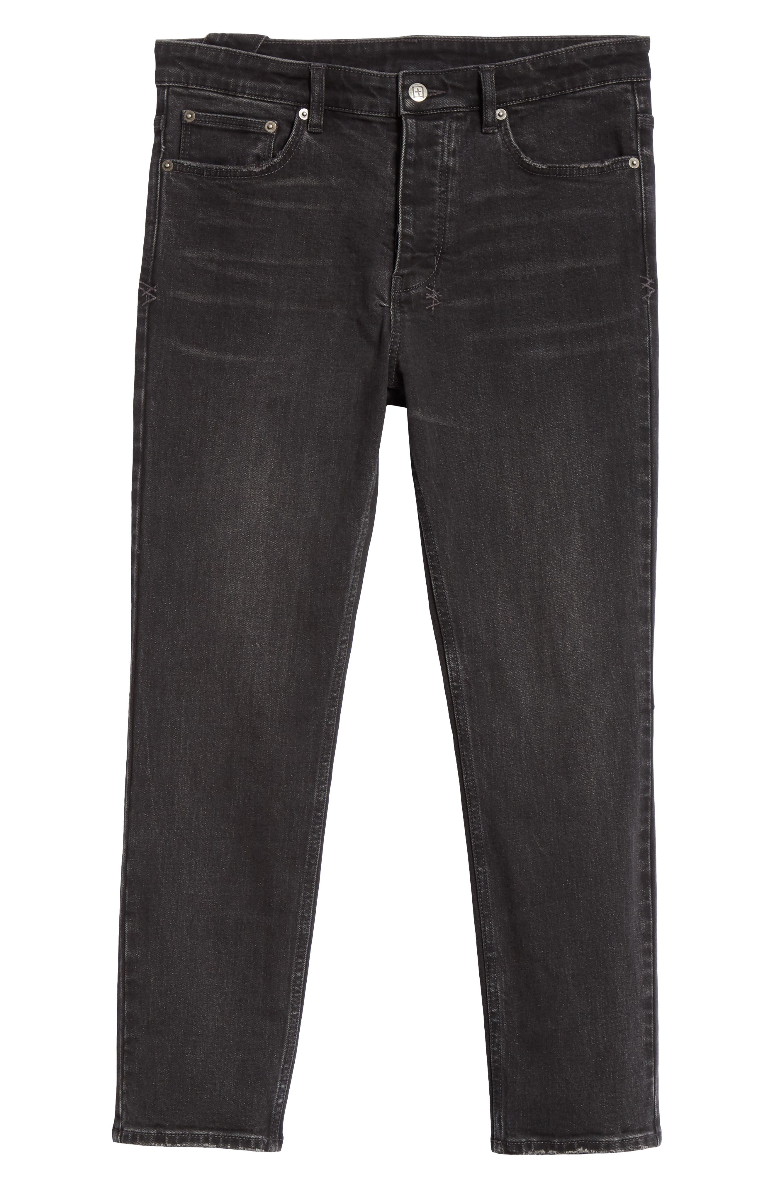KSUBI, Chitch Hard Rock Skinny Fit Crop Jeans, Alternate thumbnail 6, color, BLACK