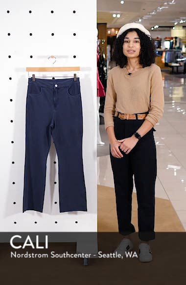 Crop Flare Knit Pants, sales video thumbnail