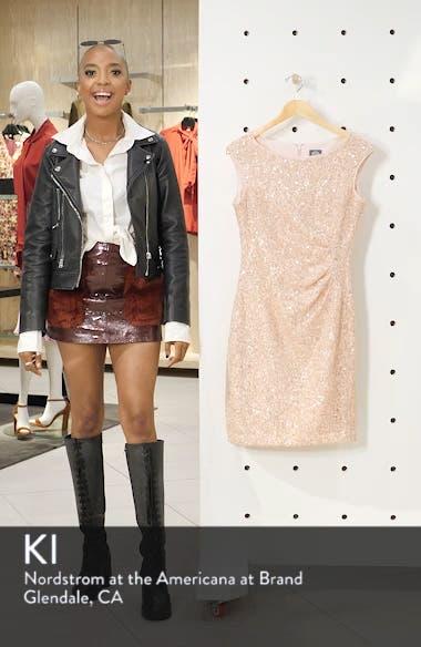 Sequin Lace Sheath Dress, sales video thumbnail