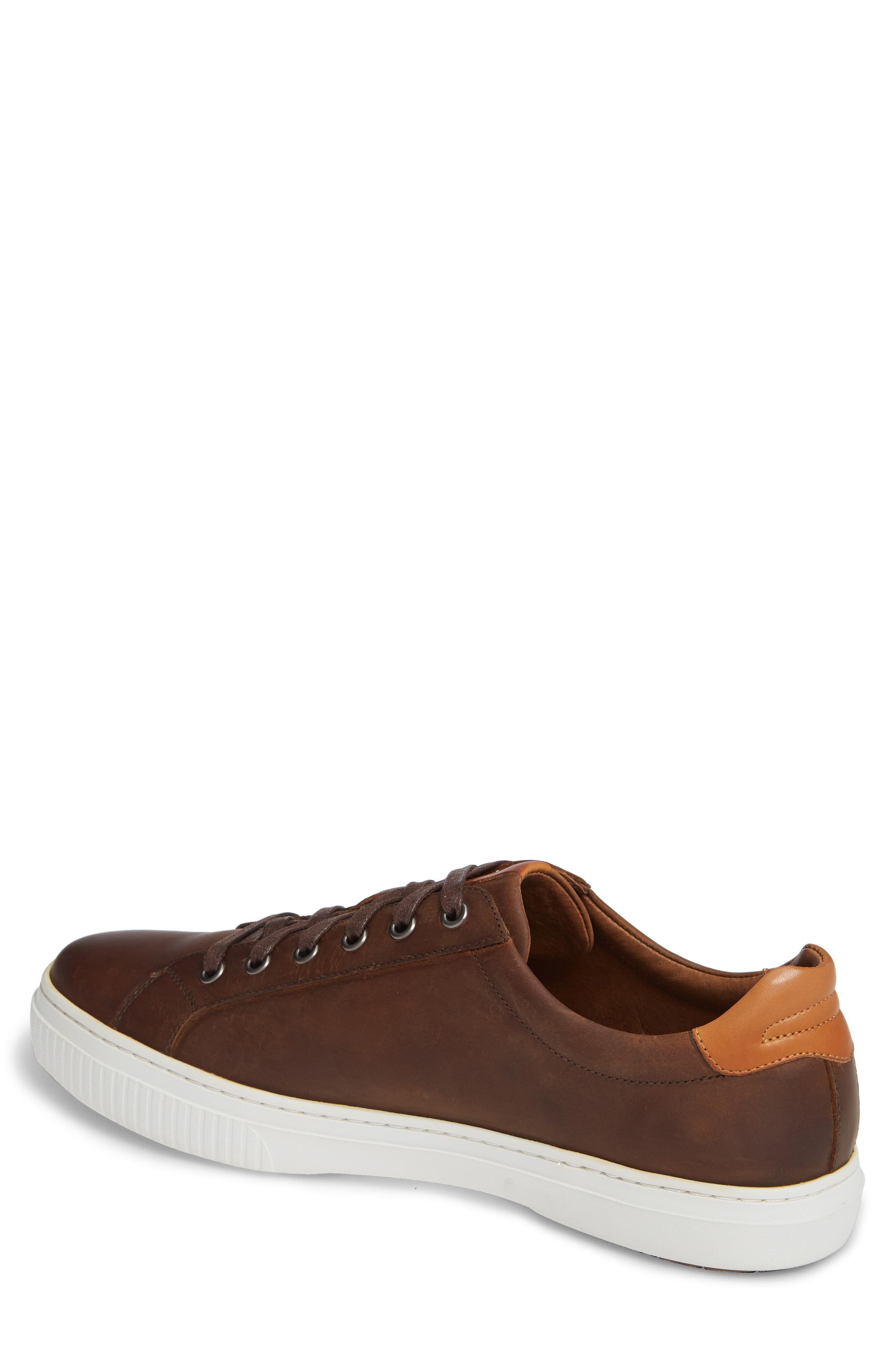 J&M 1850, Toliver Low Top Sneaker, Alternate thumbnail 2, color, TAN LEATHER