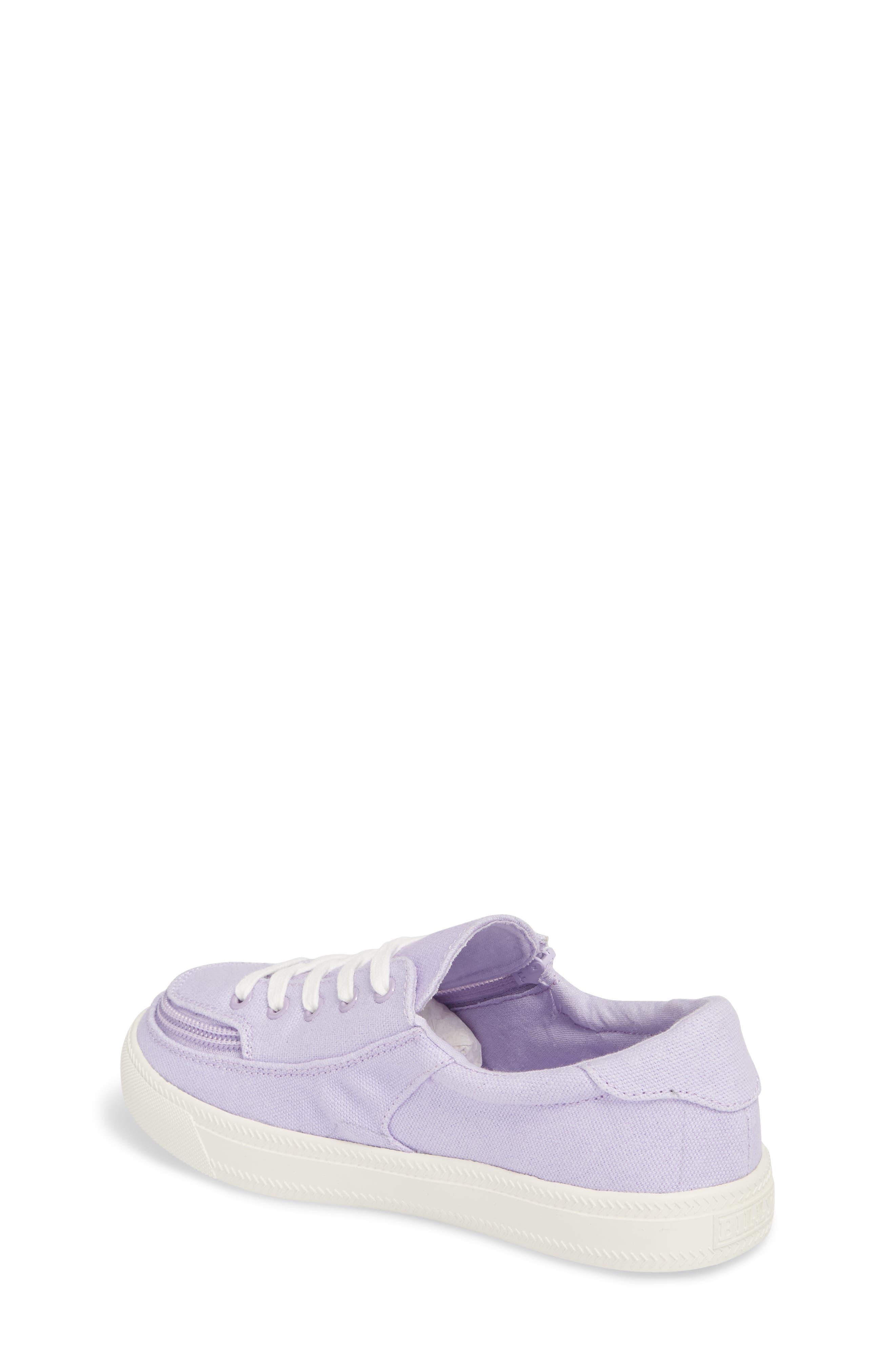 BILLY FOOTWEAR, Classic Zip Around Low Top Sneaker, Alternate thumbnail 2, color, LAVENDER