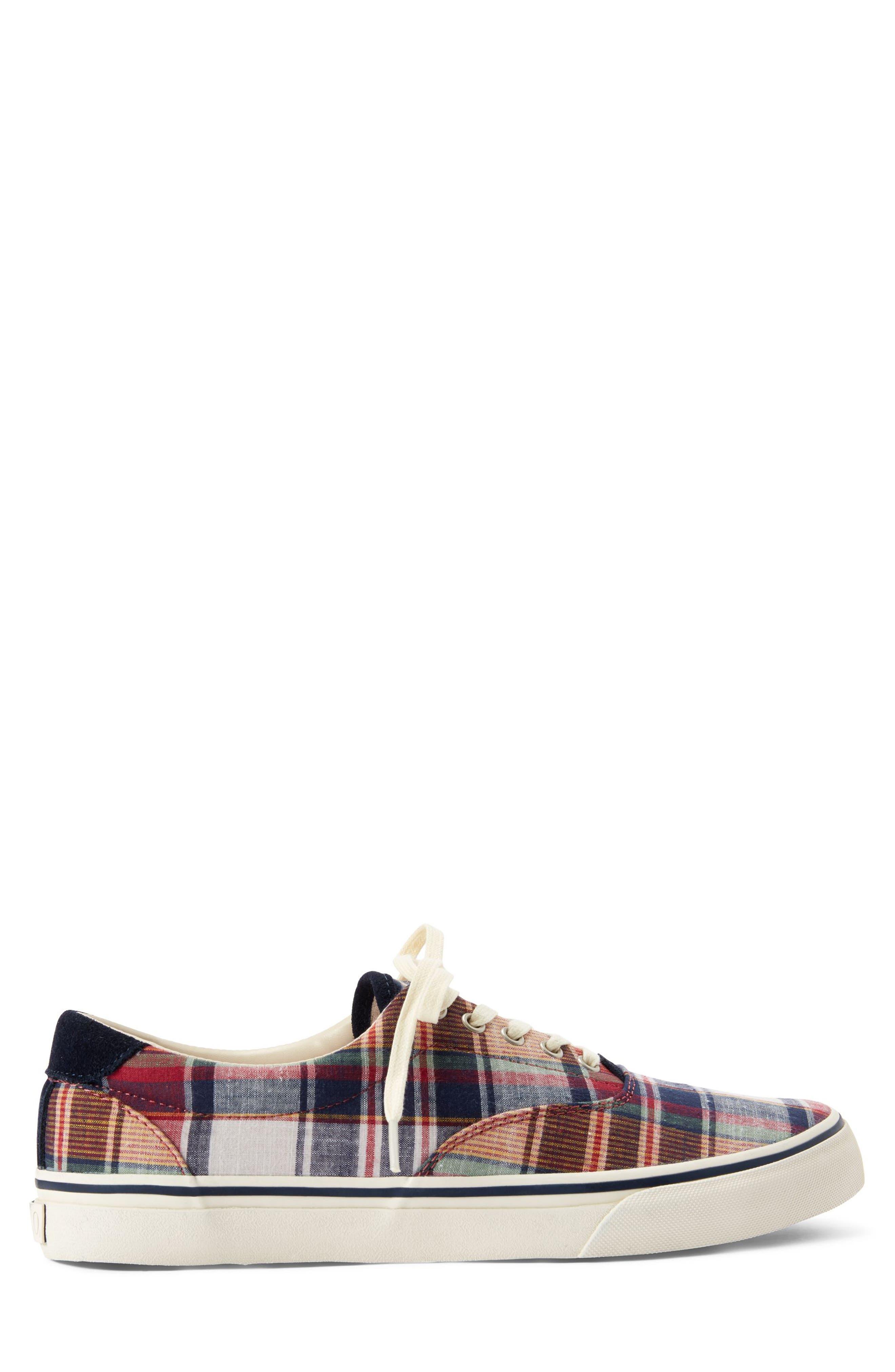 POLO RALPH LAUREN, Thorton III Sneaker, Alternate thumbnail 2, color, MULTI COLOR FABRIC