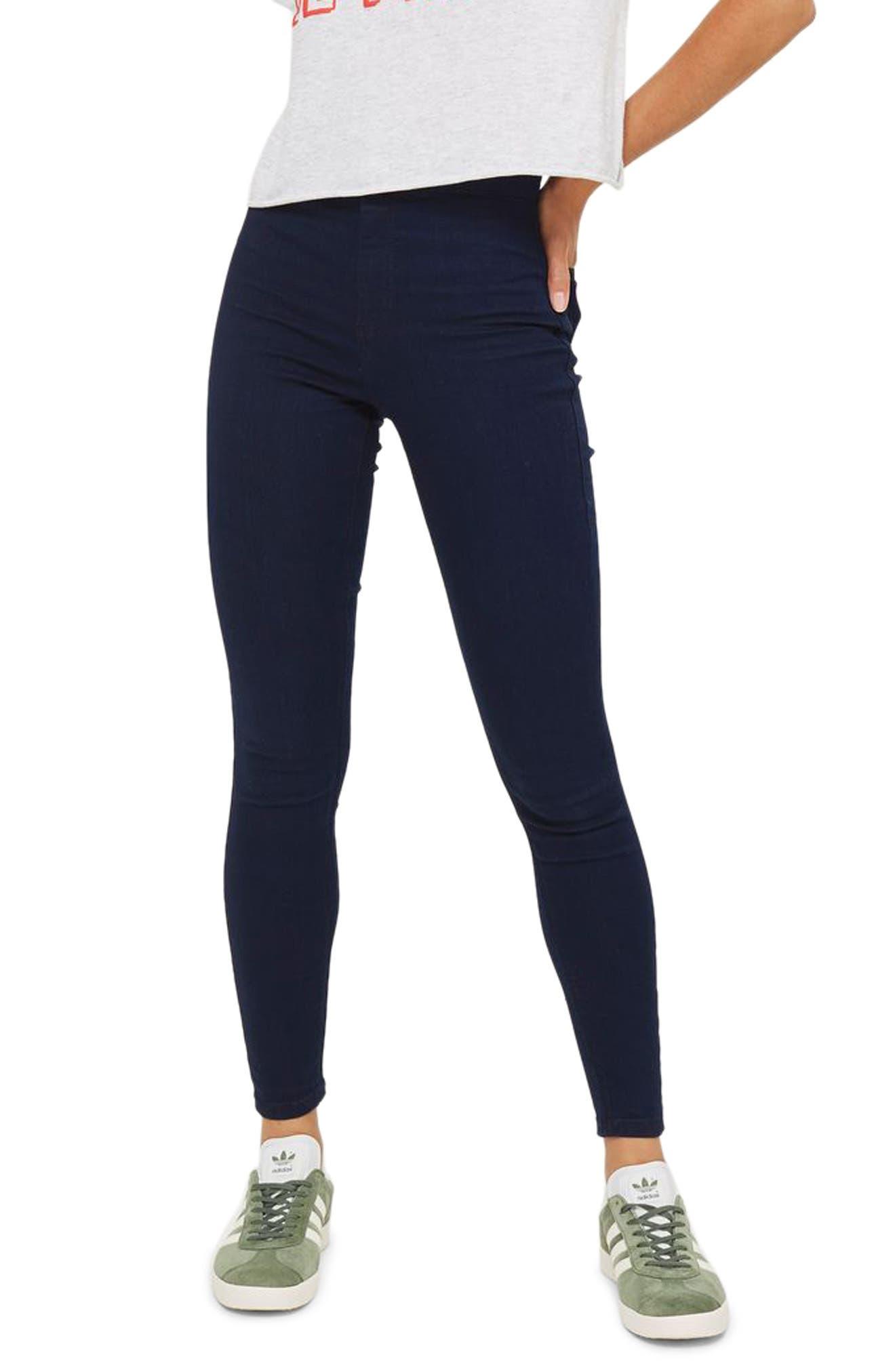 TOPSHOP, Joni High Waist Skinny Jeans, Main thumbnail 1, color, DARK INDIGO