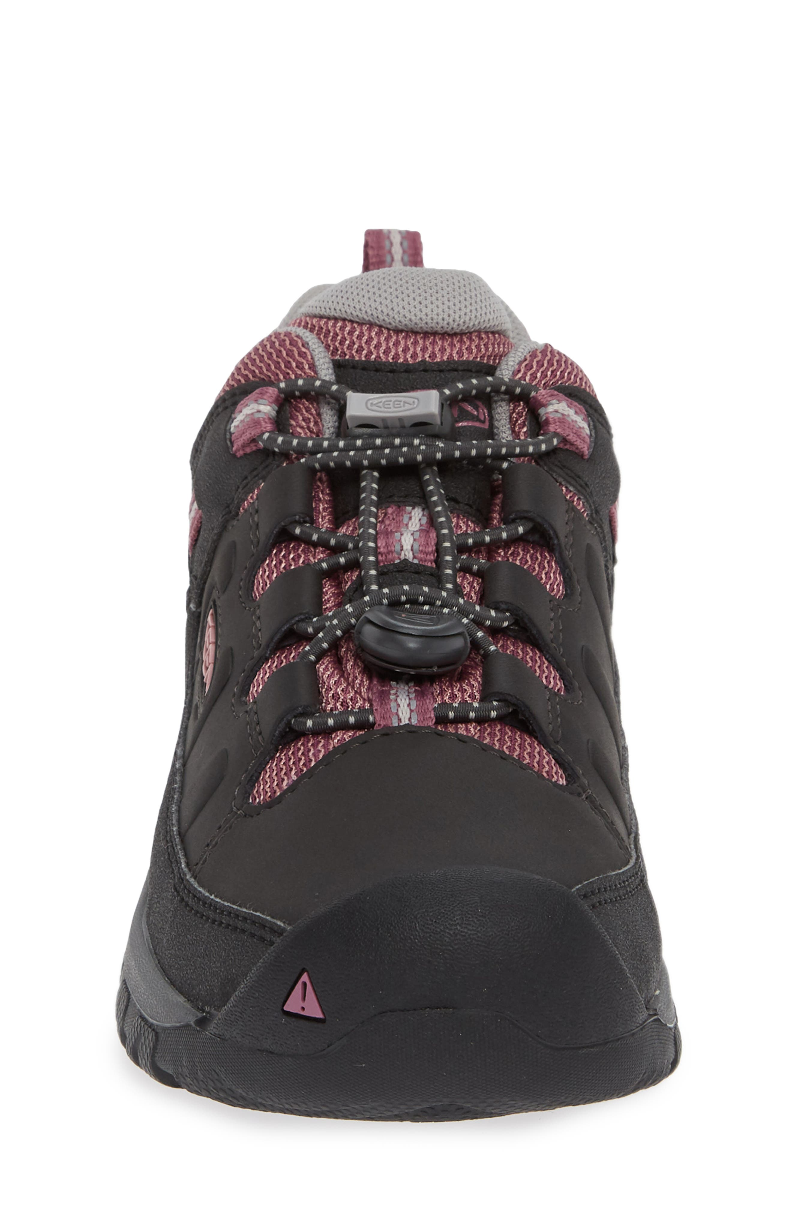 KEEN, Targhee Low Waterproof Boots, Alternate thumbnail 4, color, RAVEN/ TULIPWOOD/ TULIPWOOD