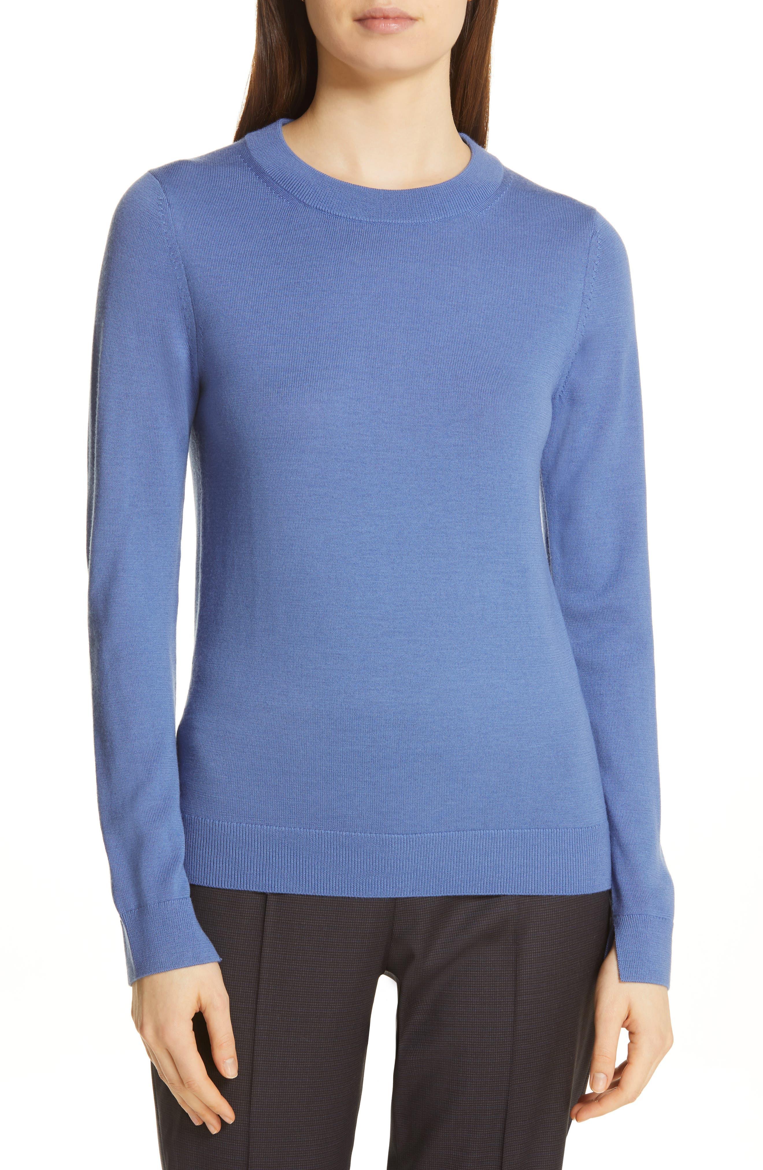 Boss Fegan Merino Wool Knit Sweater, Blue