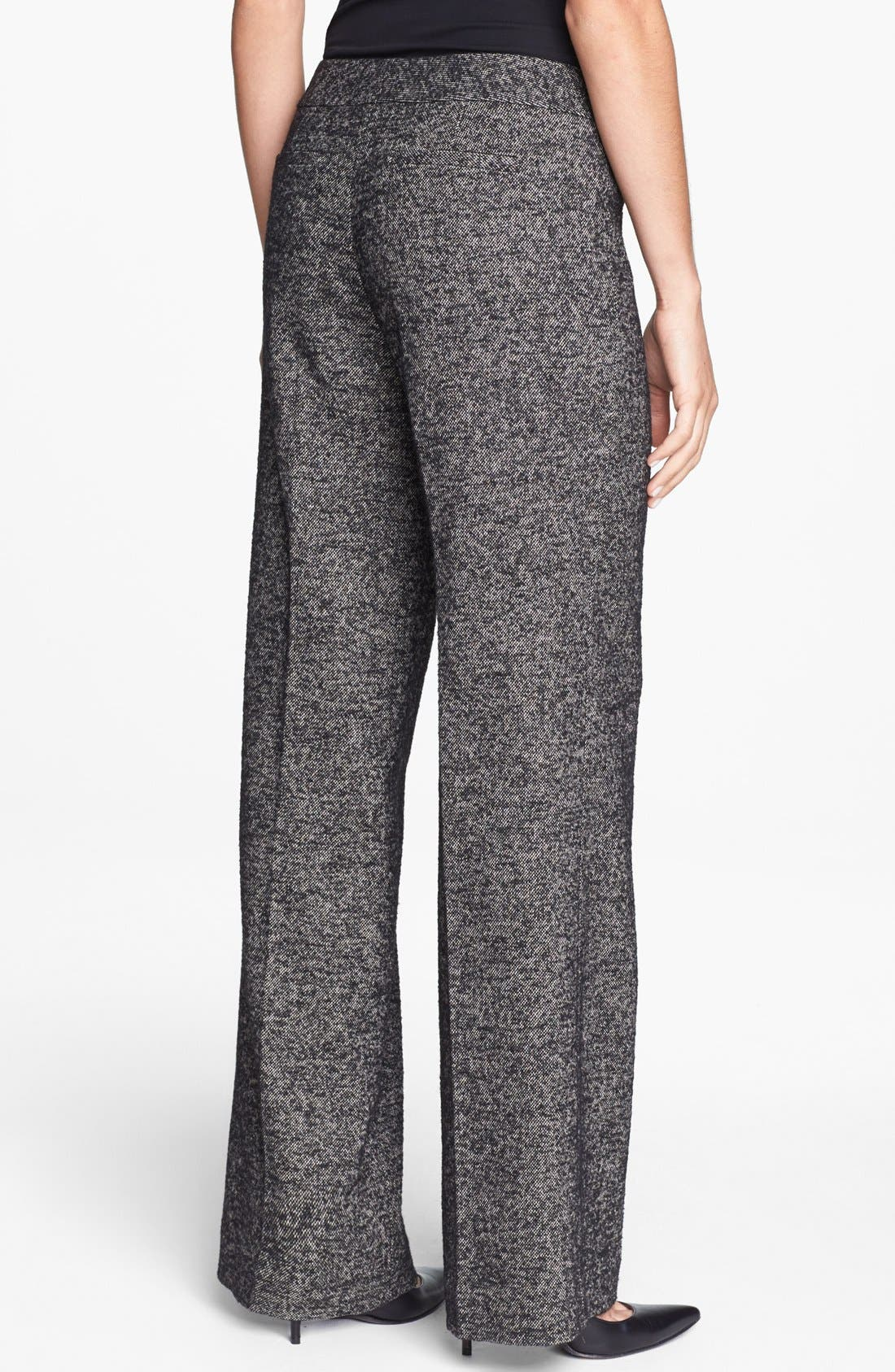 CLASSIQUES ENTIER<SUP>®</SUP>, 'Vedera Tweed' Trousers, Alternate thumbnail 4, color, 001