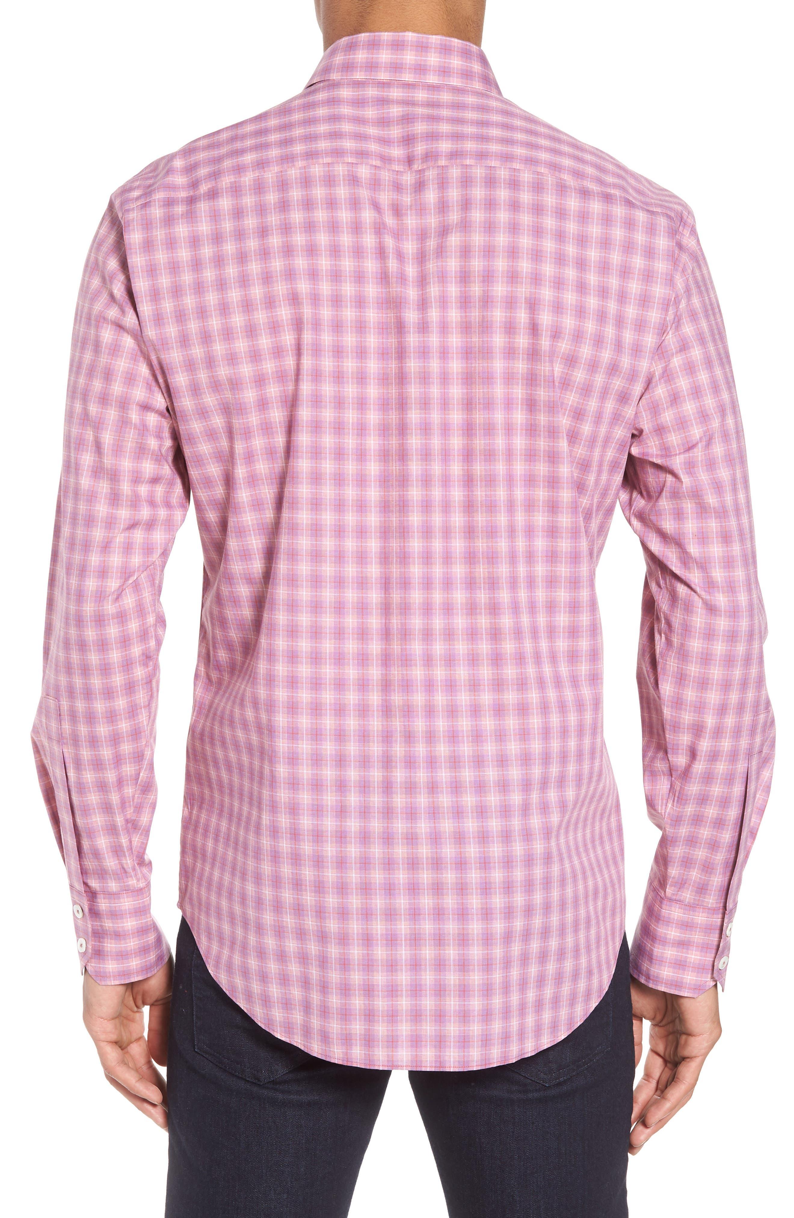 ZACHARY PRELL, Duran Regular Fit Sport Shirt, Alternate thumbnail 2, color, PINK