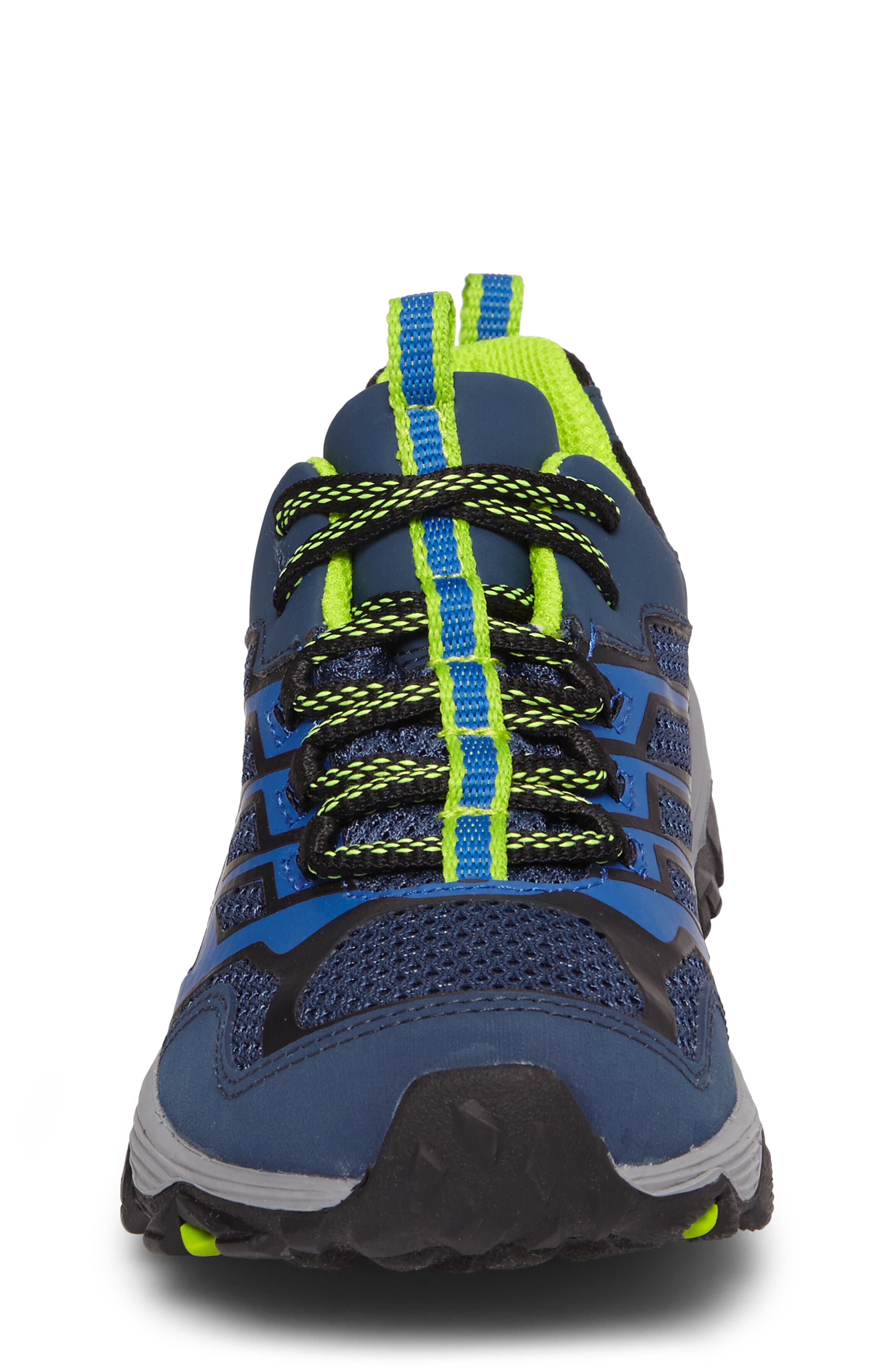 MERRELL, Moab FST Polar Low Waterproof Sneaker, Alternate thumbnail 4, color, NAVY/ BLUE